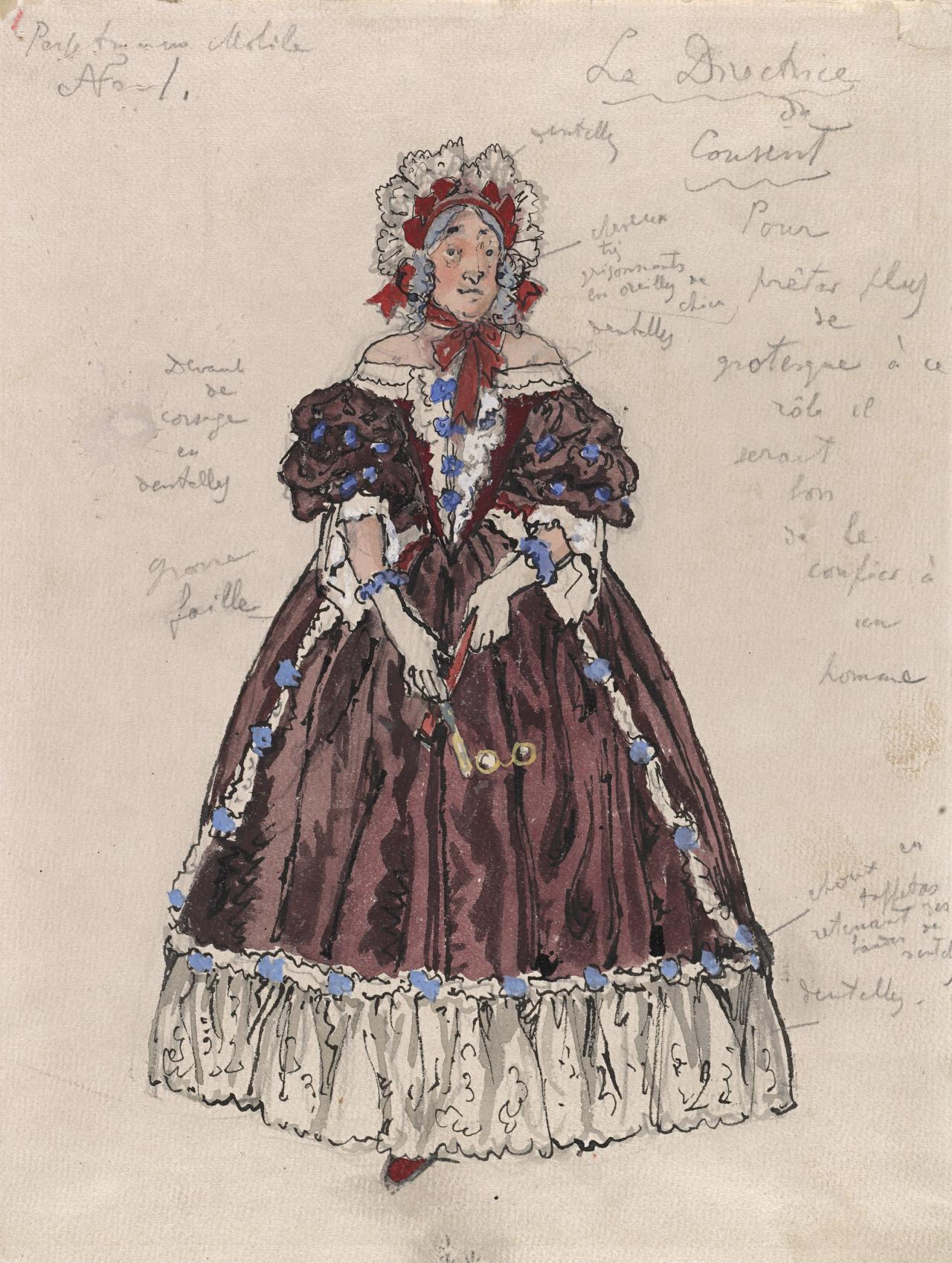 Costume design for the Directress of the Convent