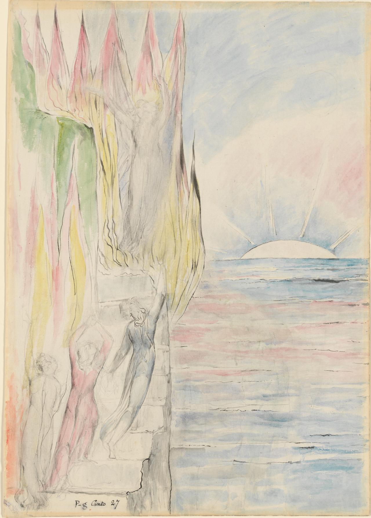 The Angel inviting Dante to enter the Fire | William BLAKE | NGV ...