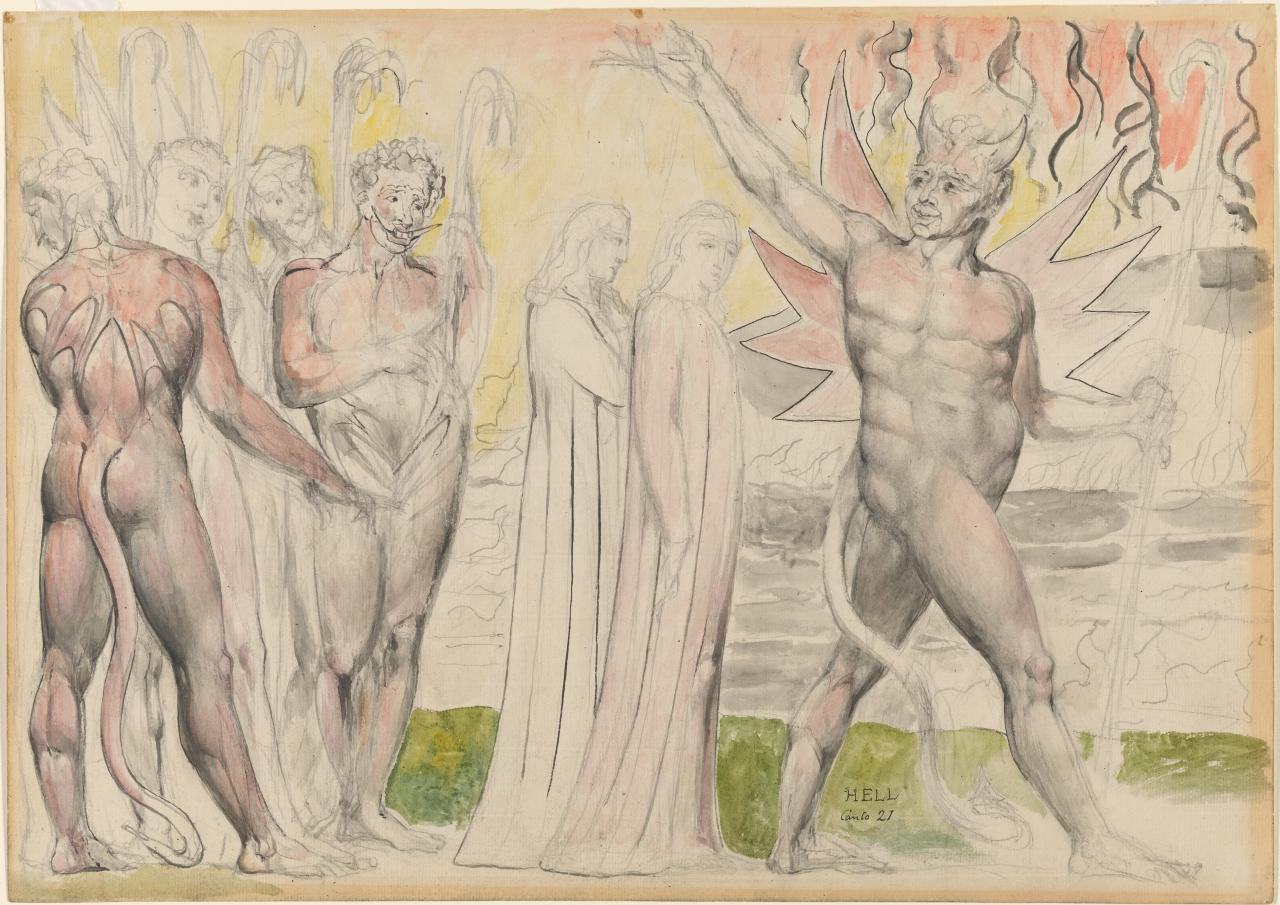 The Devils setting out with Dante and Virgil