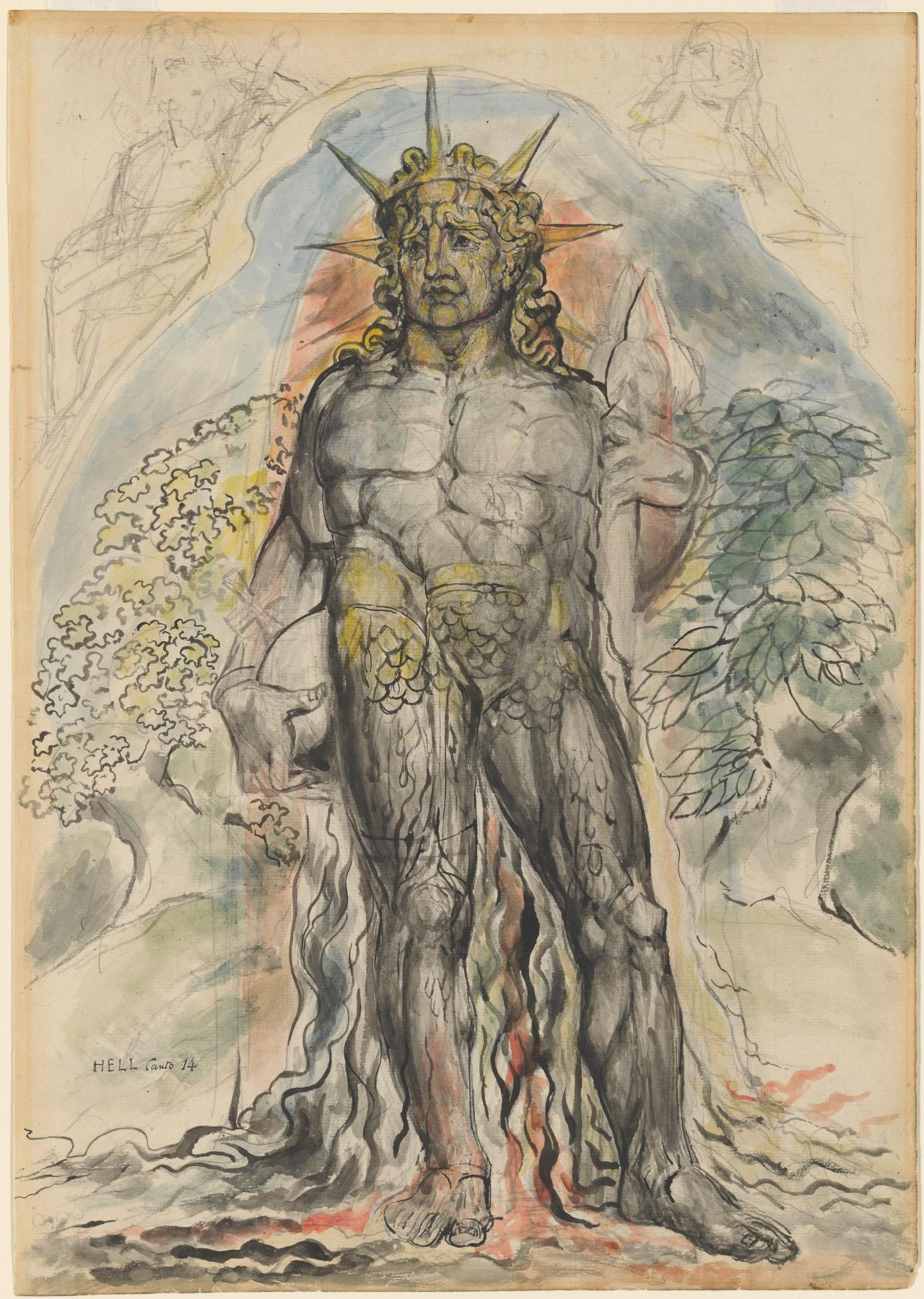 Image result for william blake The Symbolic Figure of the Course of Human History Described by Virgil i