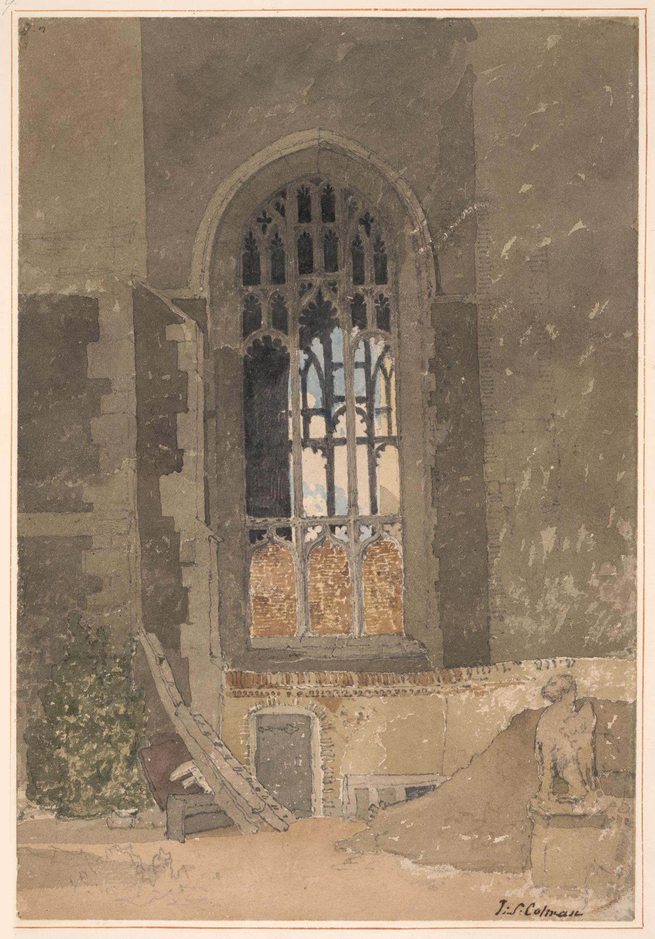 Window between St. Andrew's Hall and the Dutch Church