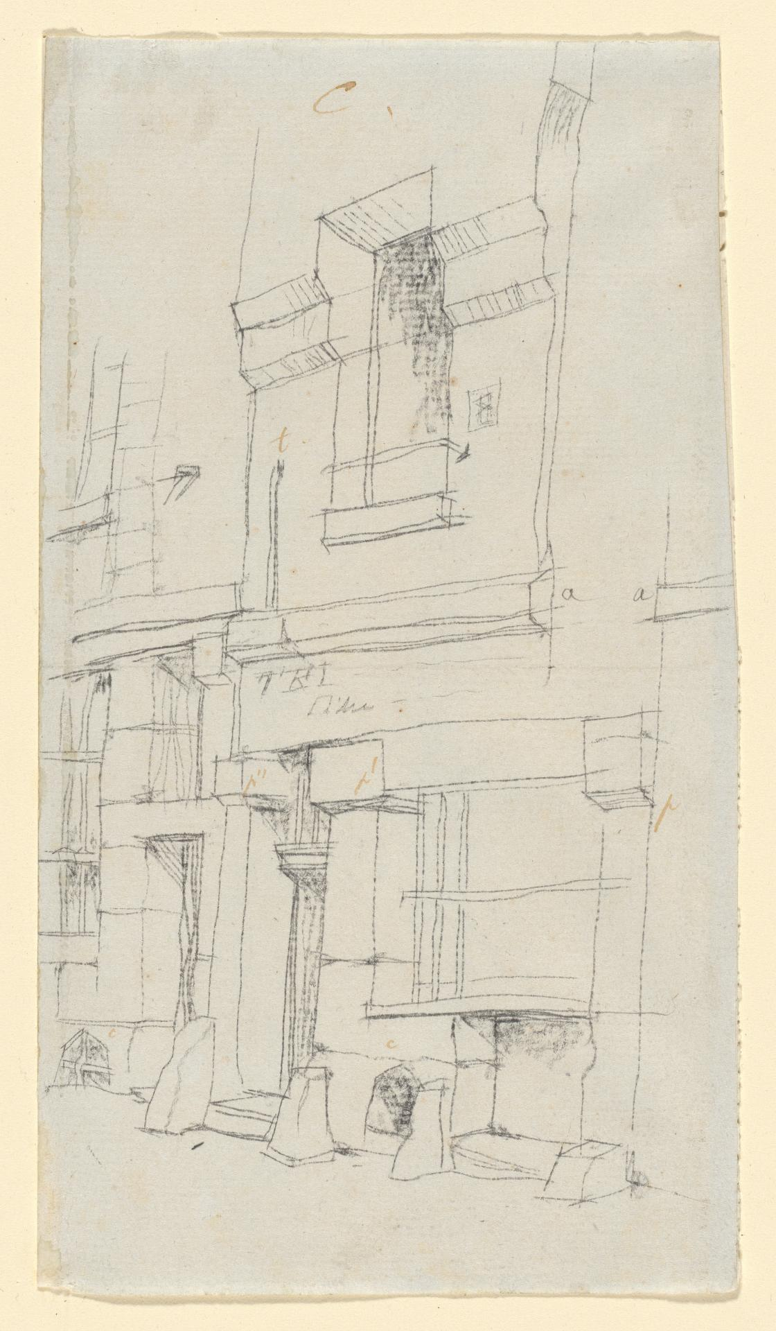 Study of old houses in Paris