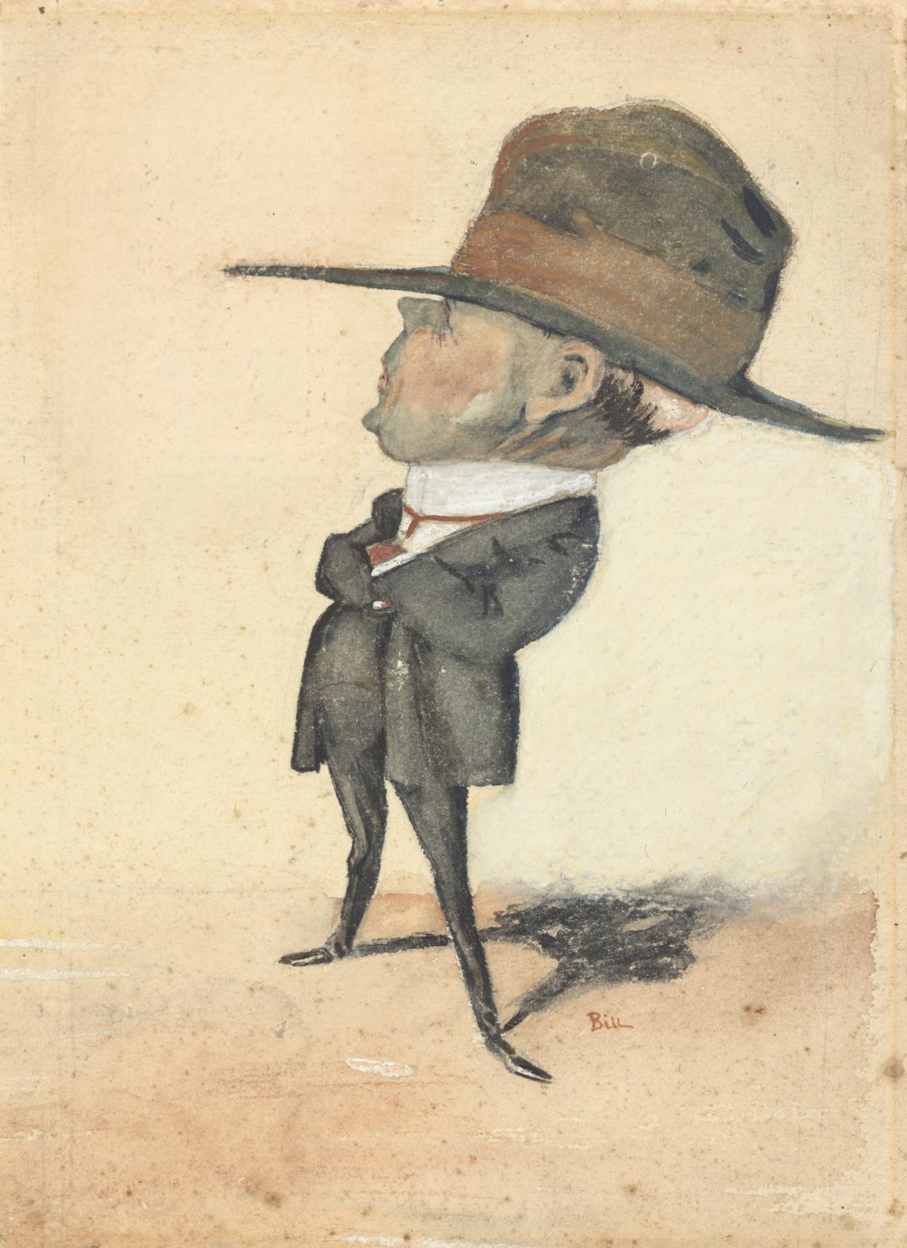 Caricature portrait of Edward Dyson