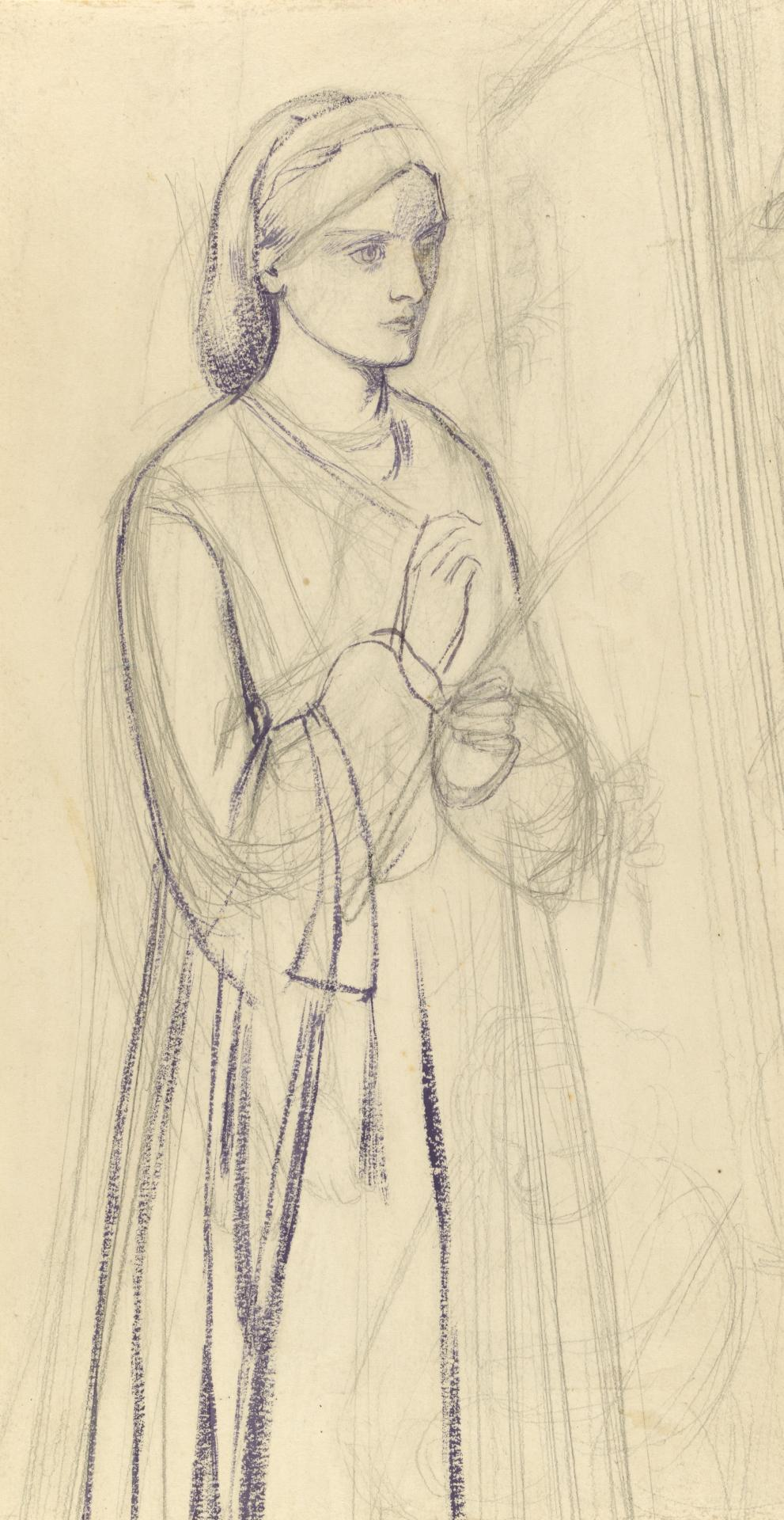 Study for St Catherine