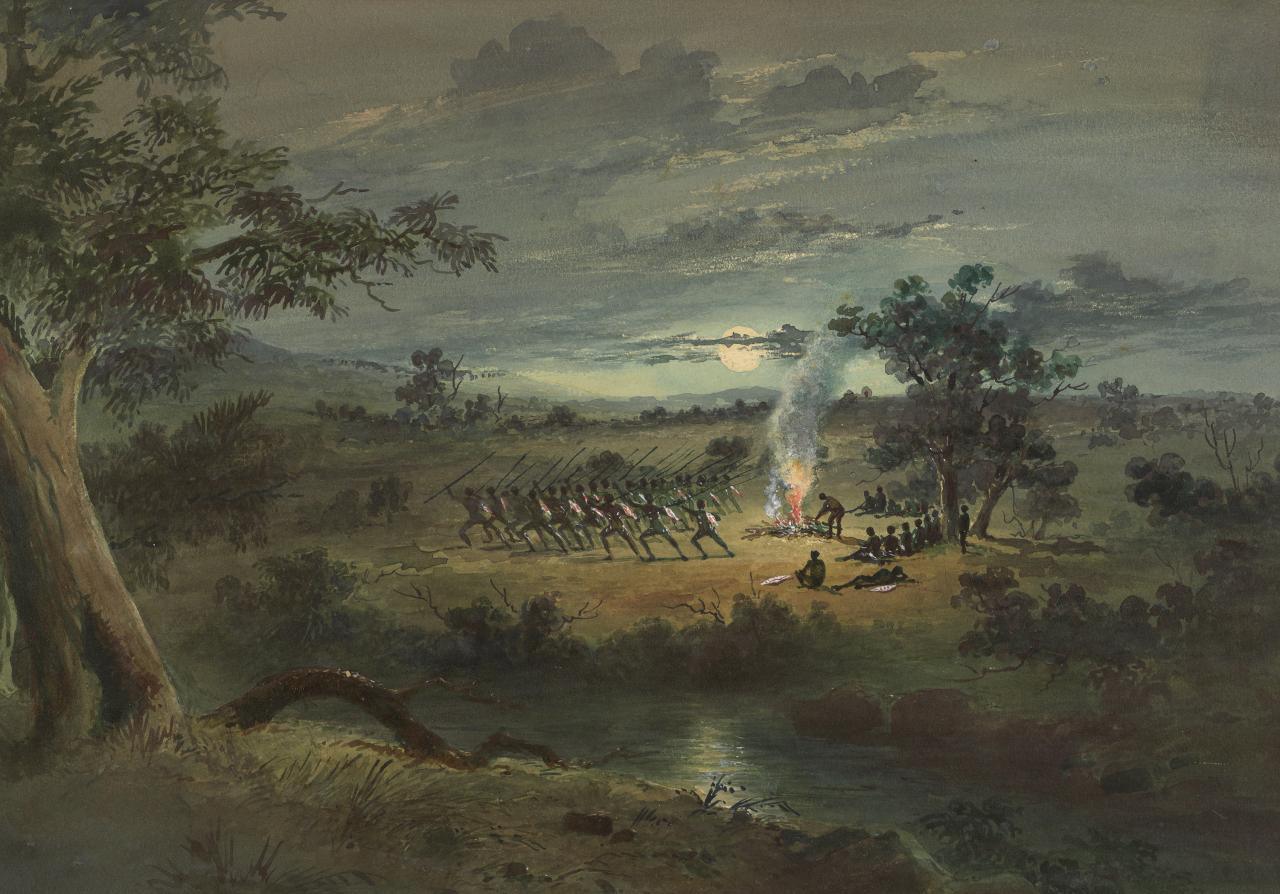 Corroboree at night