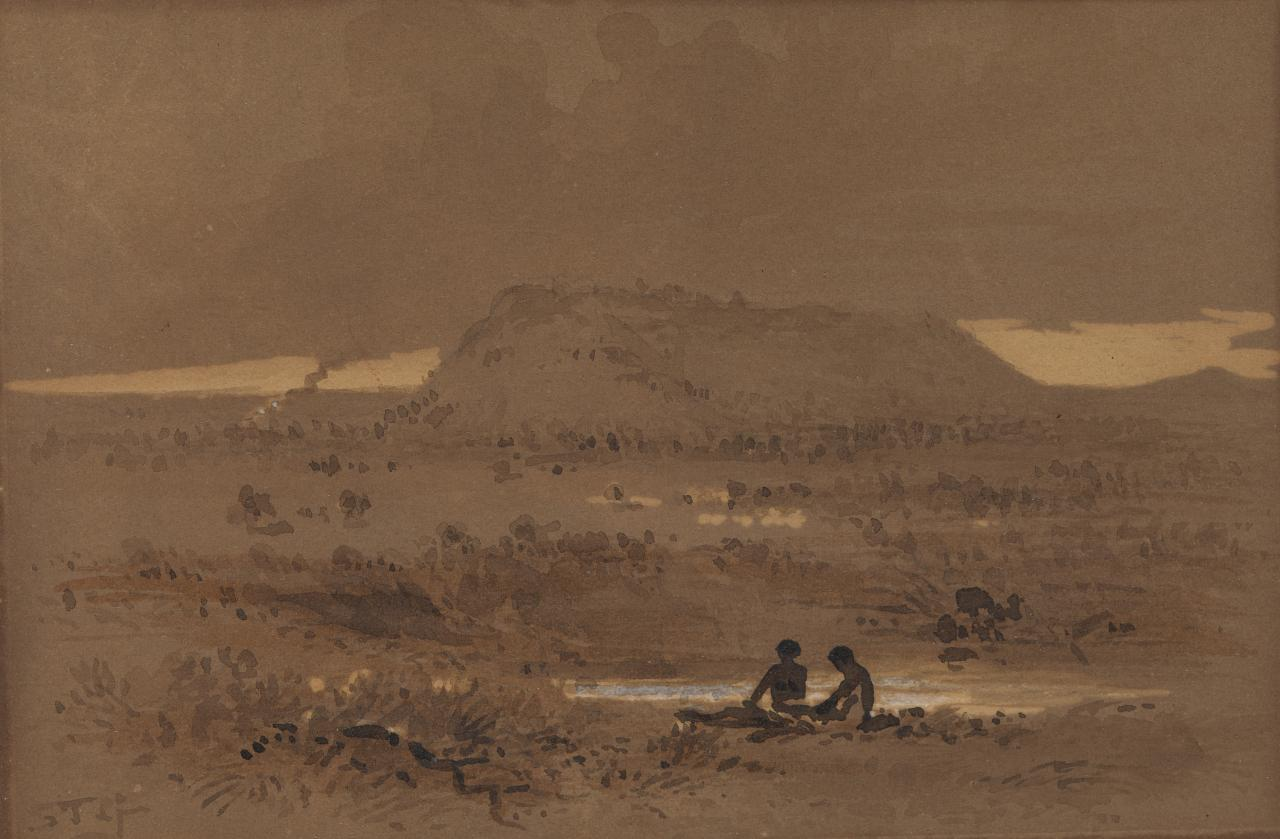 Landscape with aborigines