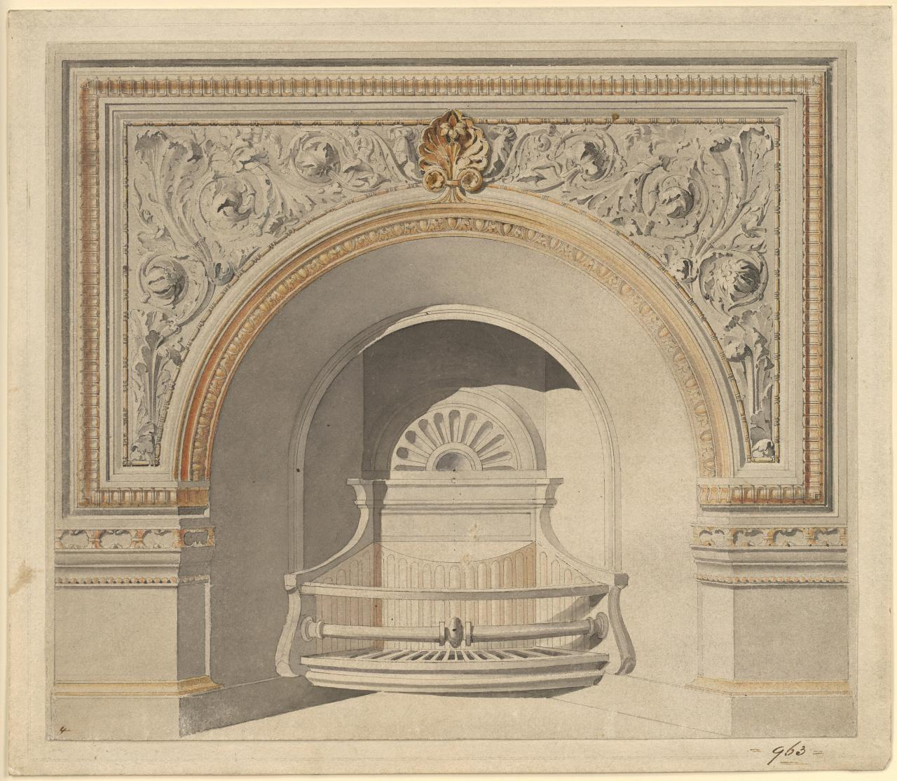 Fireplace design No 963