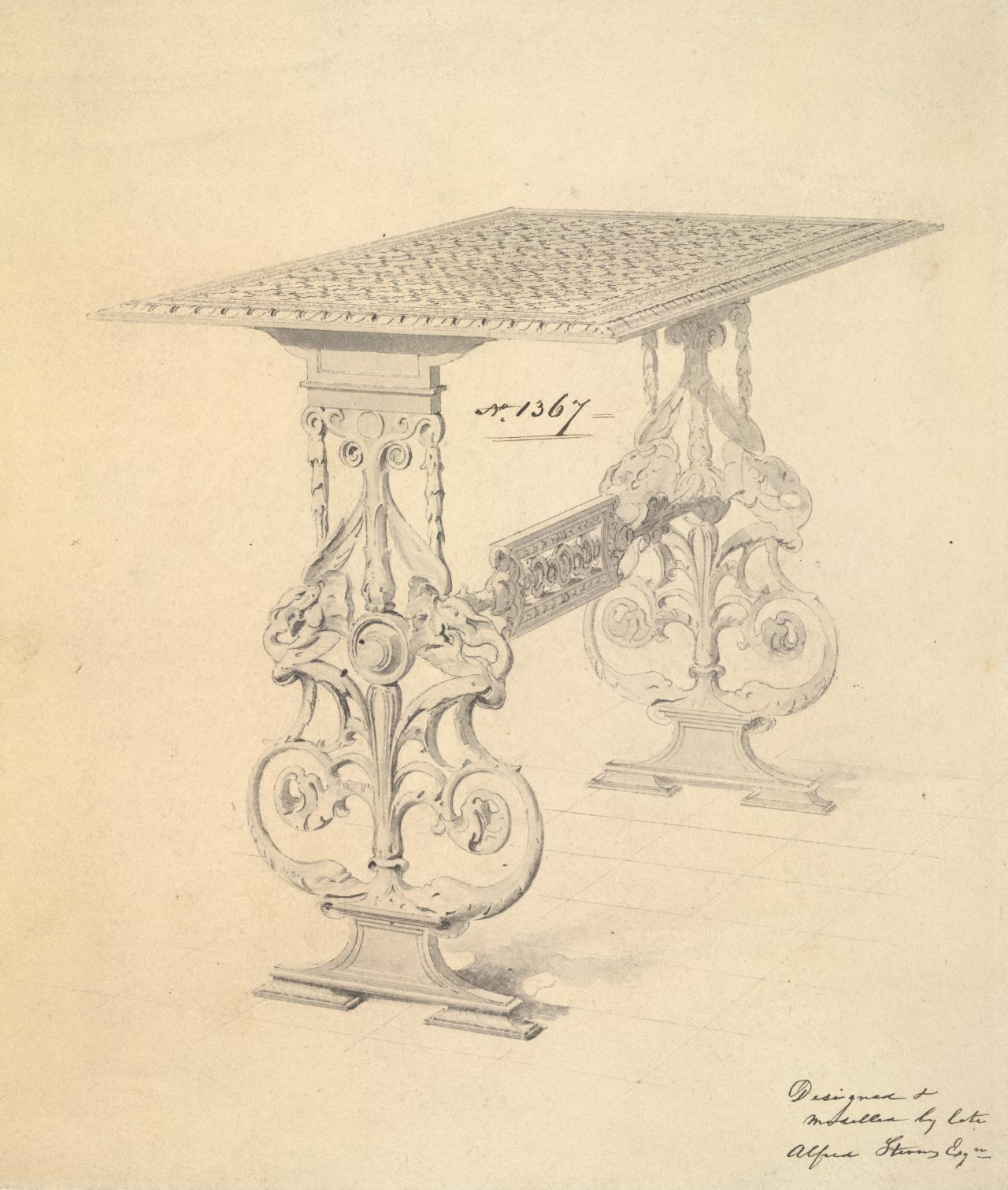 Design for a table for Hoole & Co.