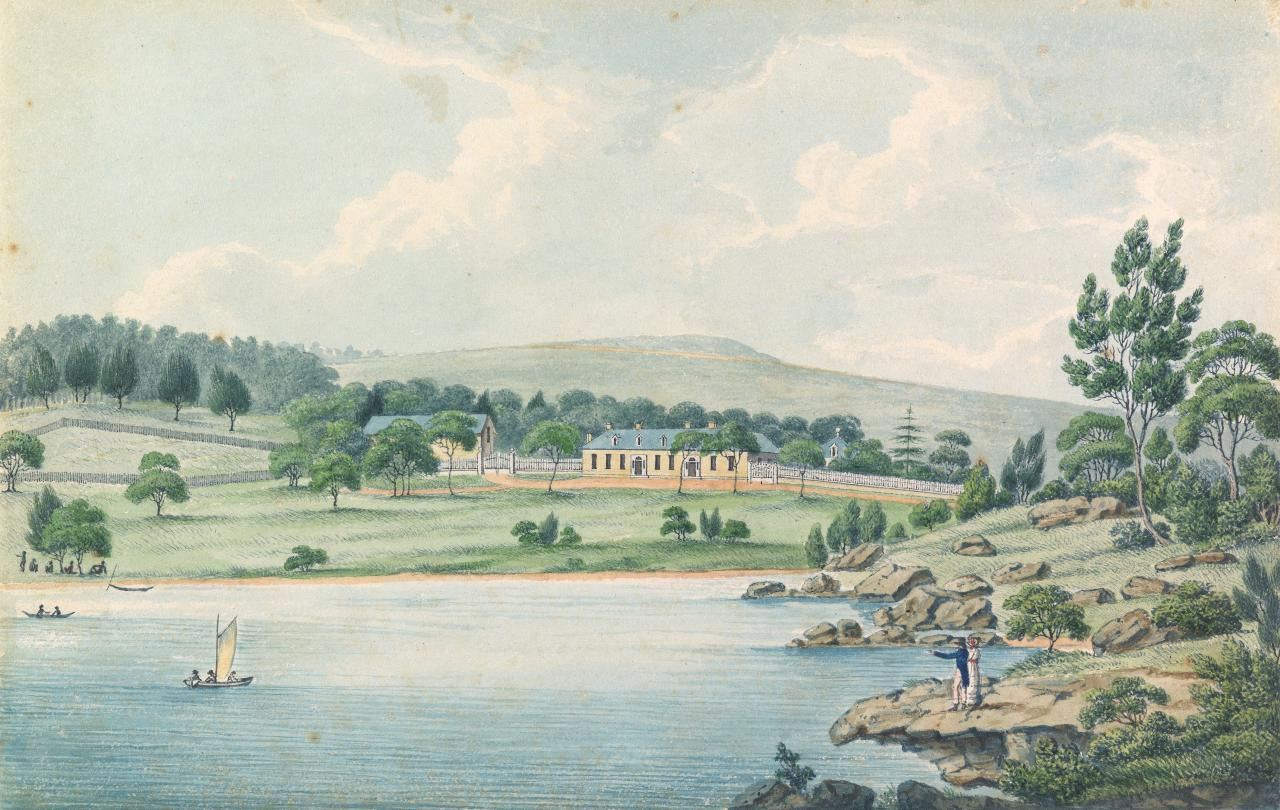 Wooloomooloo, the residence of Edward Riley Esqr., J. P., near Sydney, New South Wales