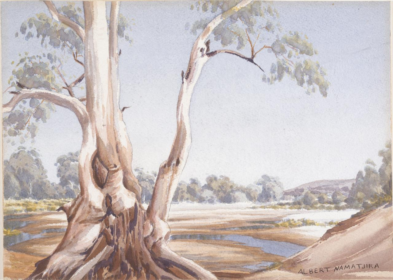 Finke River bed