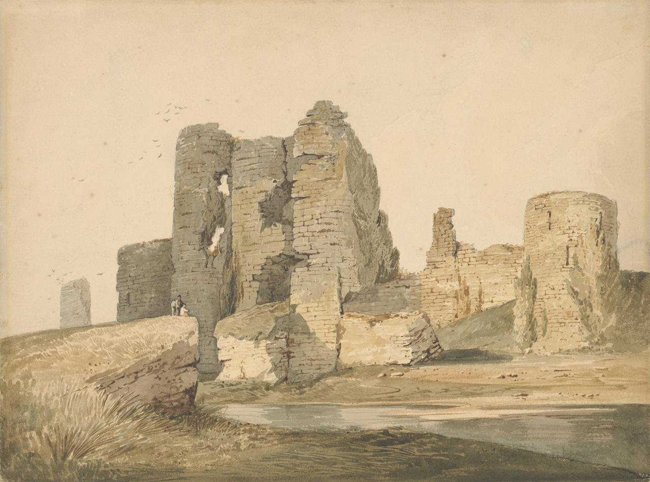 Ruined castle on a cliff
