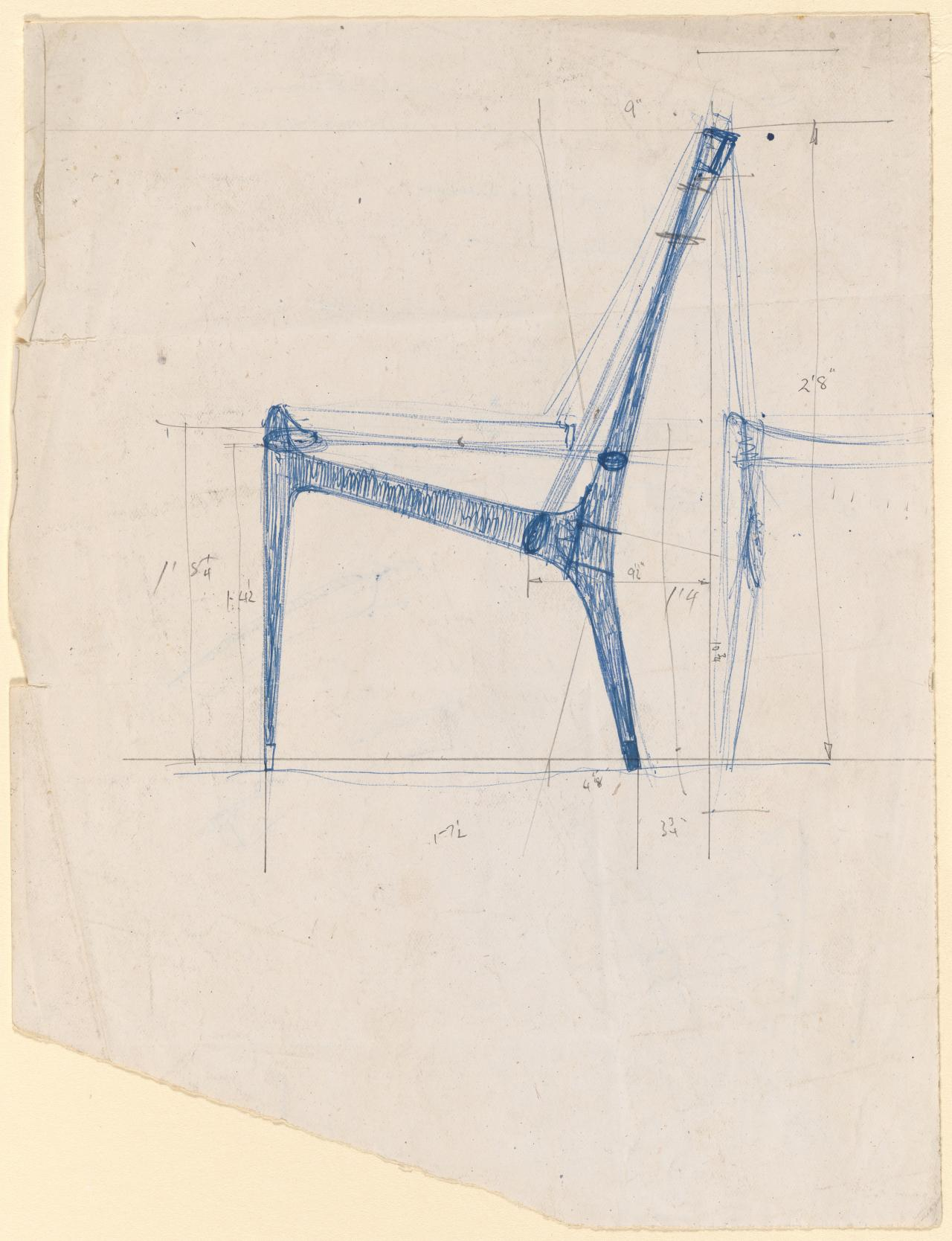 Study for Cord chair
