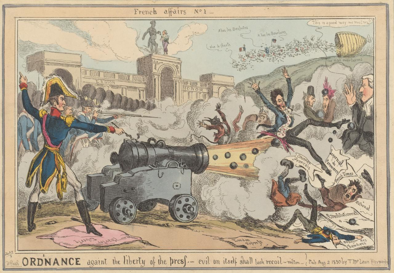 French affairs no. 1: Ordinance against the liberty of the press
