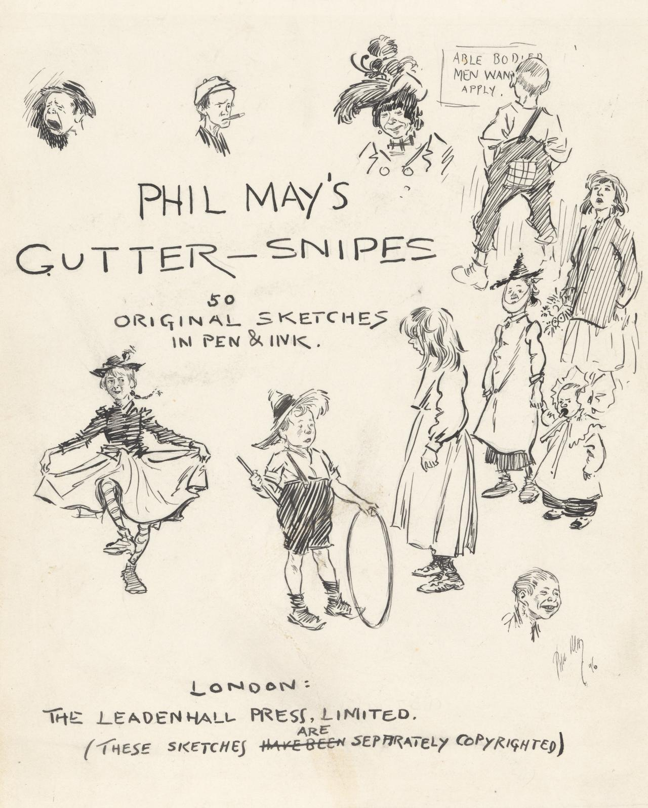 Phil May's Gutter Snipes Frontispiece