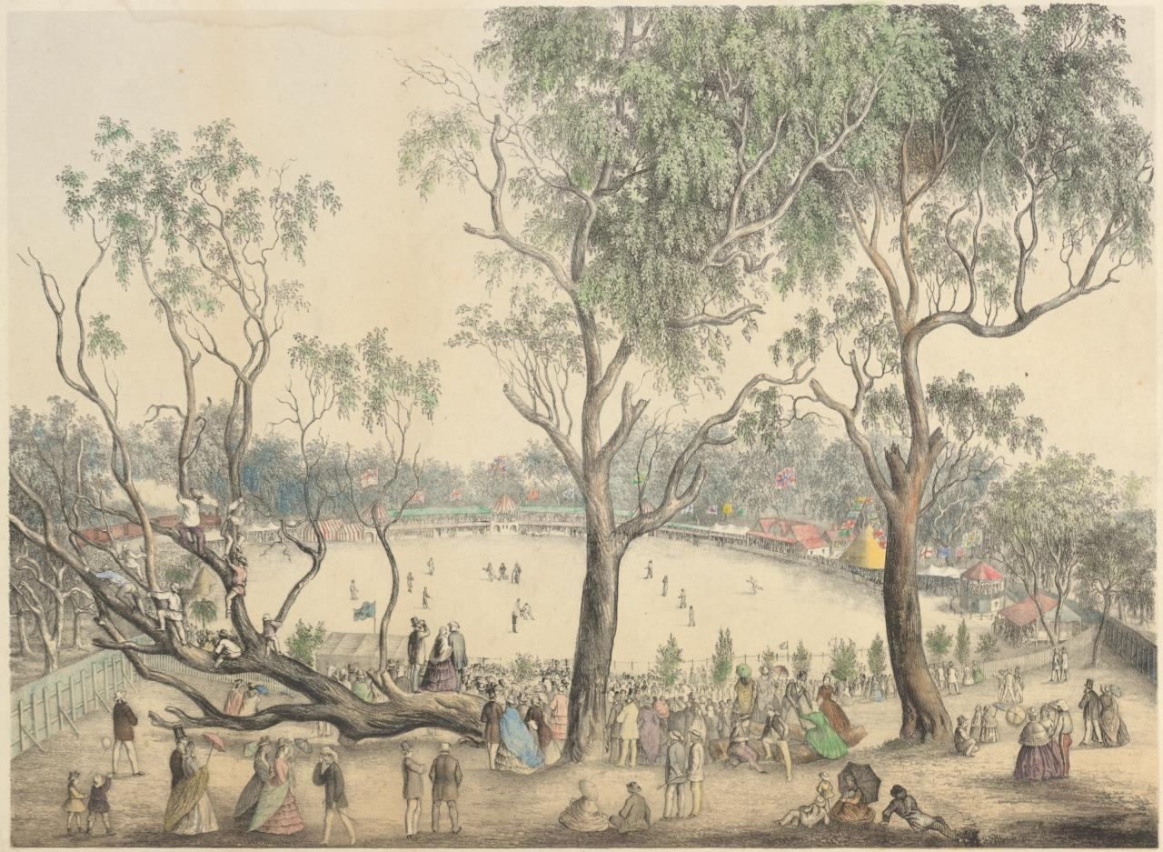 Melbourne Cricket Ground, 1st January 1864
