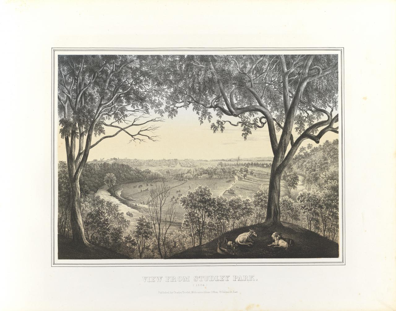 View from Studley Park 1864