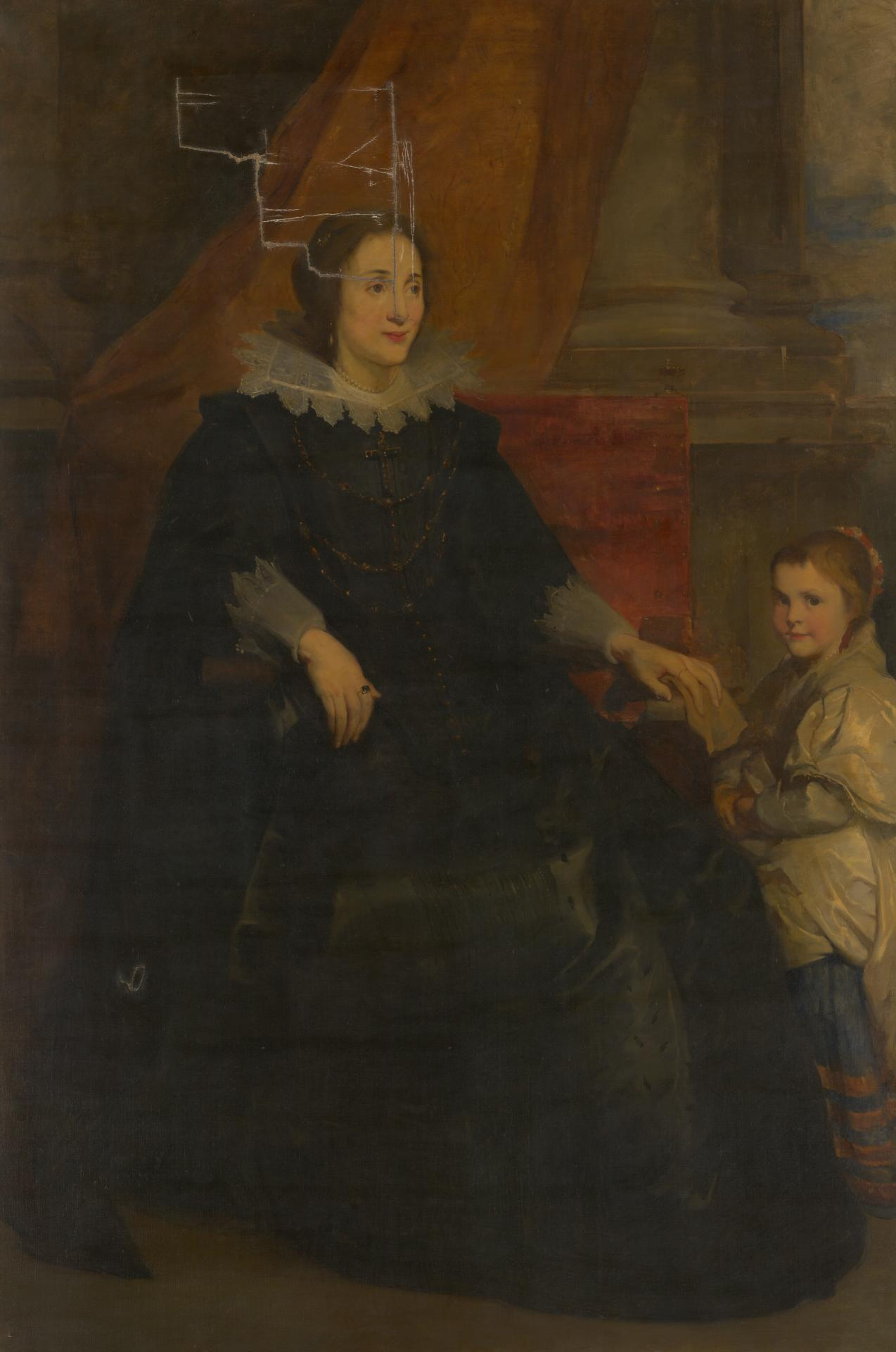 Portrait of a lady of rank with her daughter