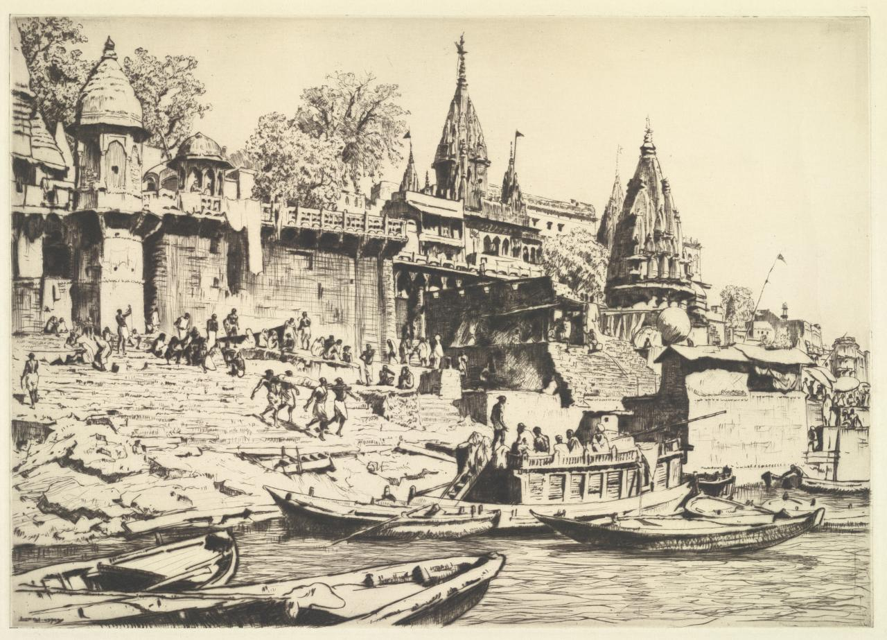 The burning ghât, Benares