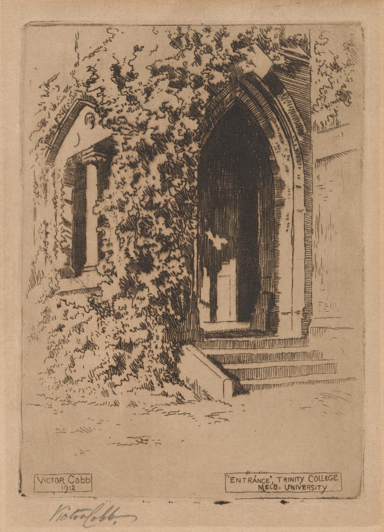Entrance, Trinity College, Melbourne University | Victor COBB | NGV