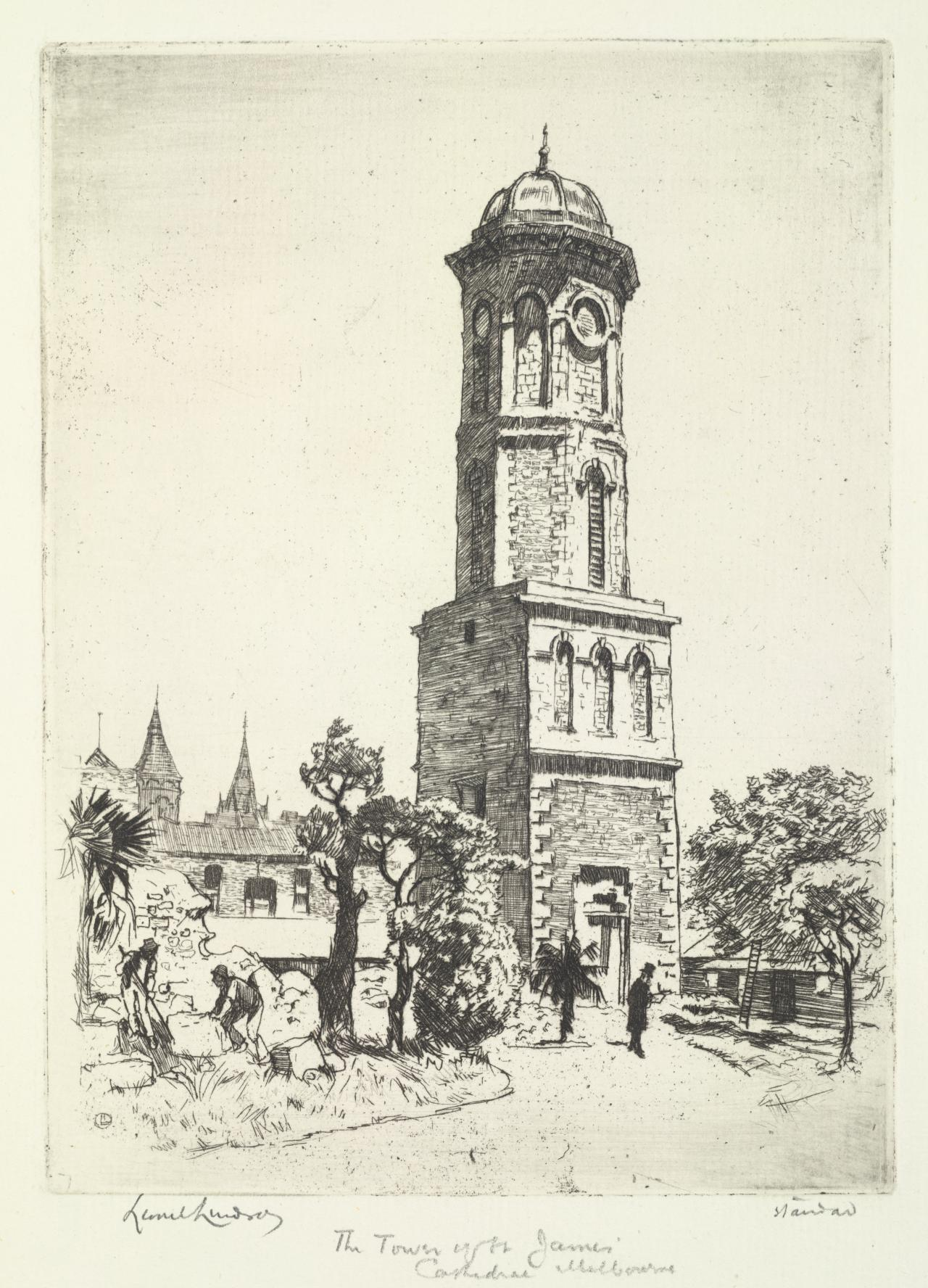 The tower of St James Cathedral, Melbourne