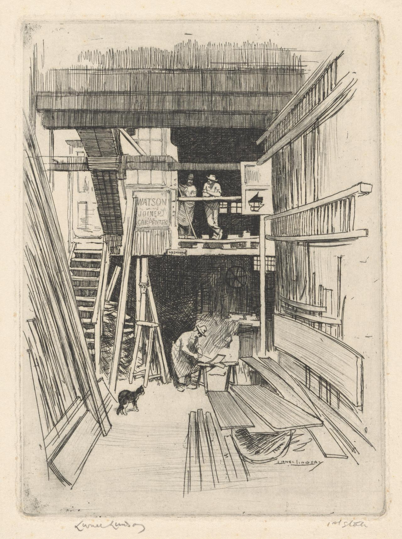 Carpenter's shop, Phillip Street, Sydney
