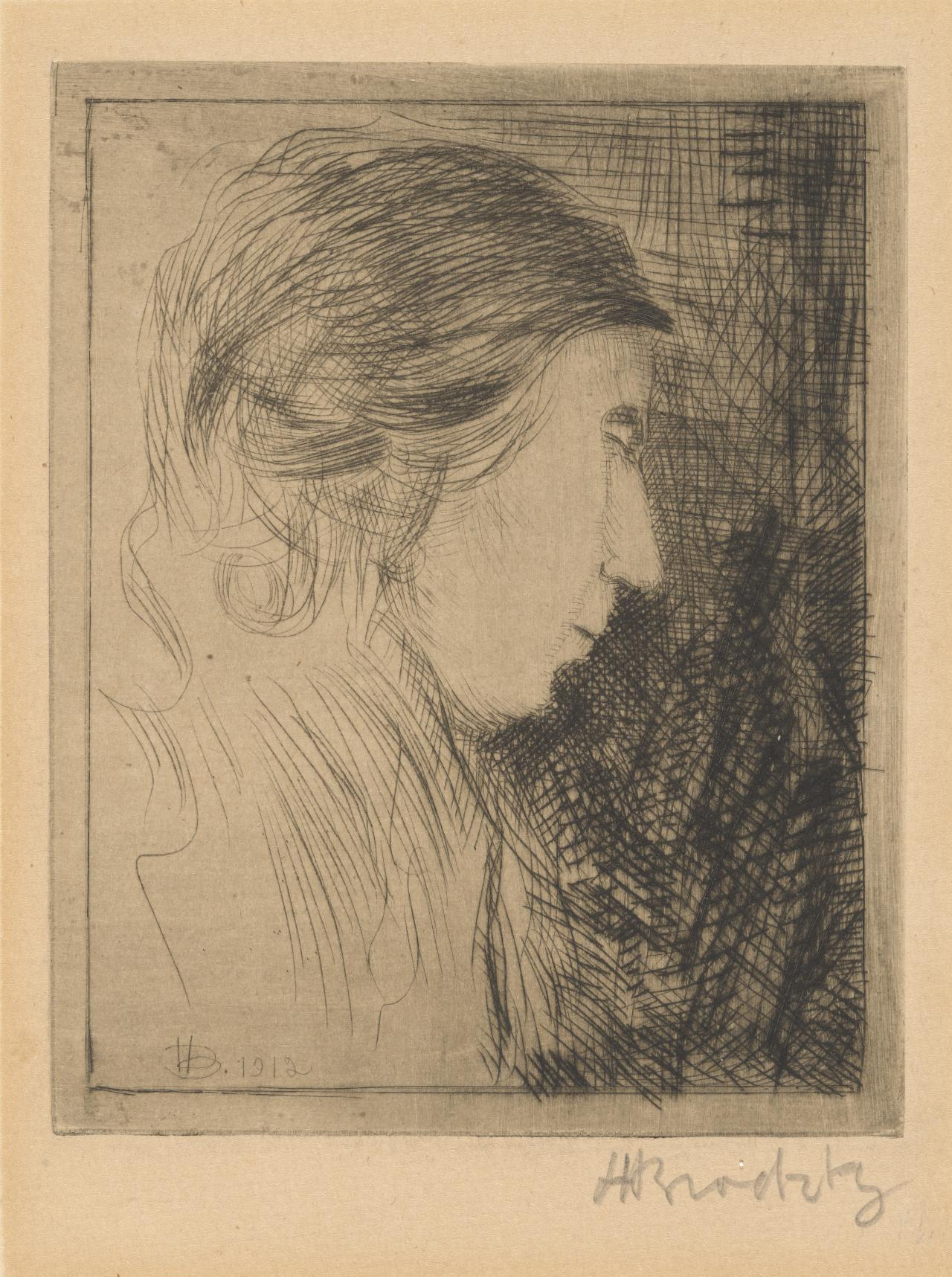 The artist's sister Beatrice