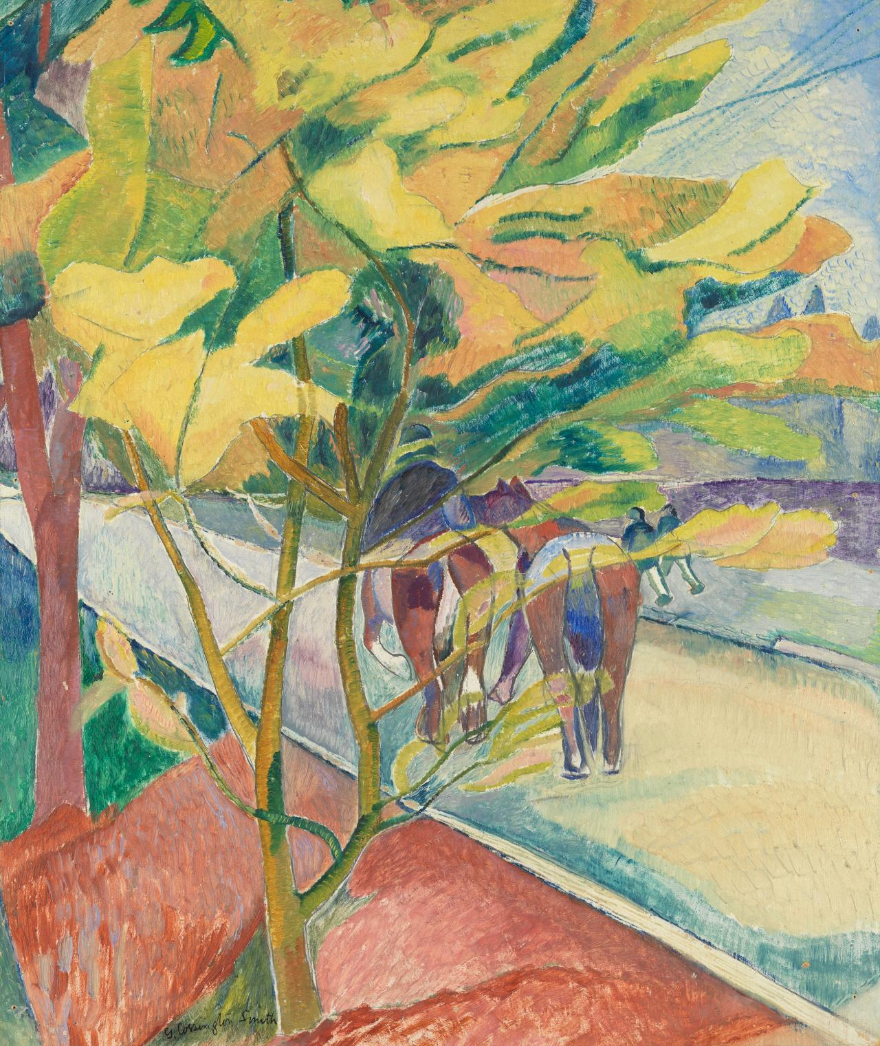 Road With Two Horses Grace Cossington Smith Ngv View