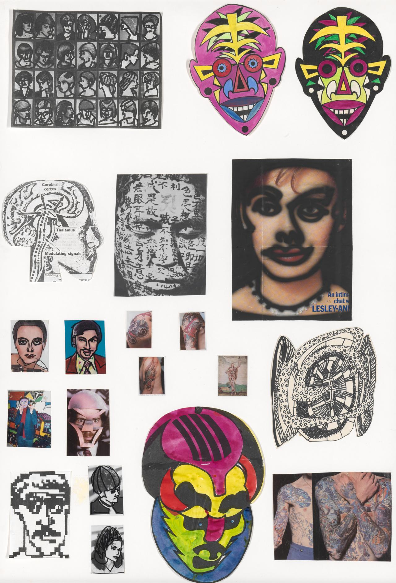 (Source material for Tattooed head)