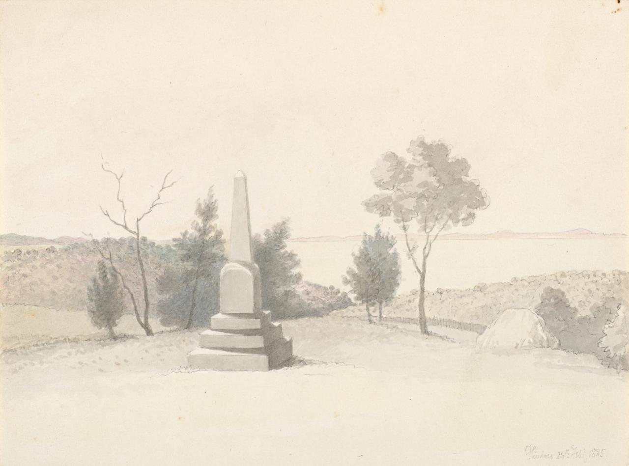 Flinders (view of memorial stone to Edith Mary Anderson)