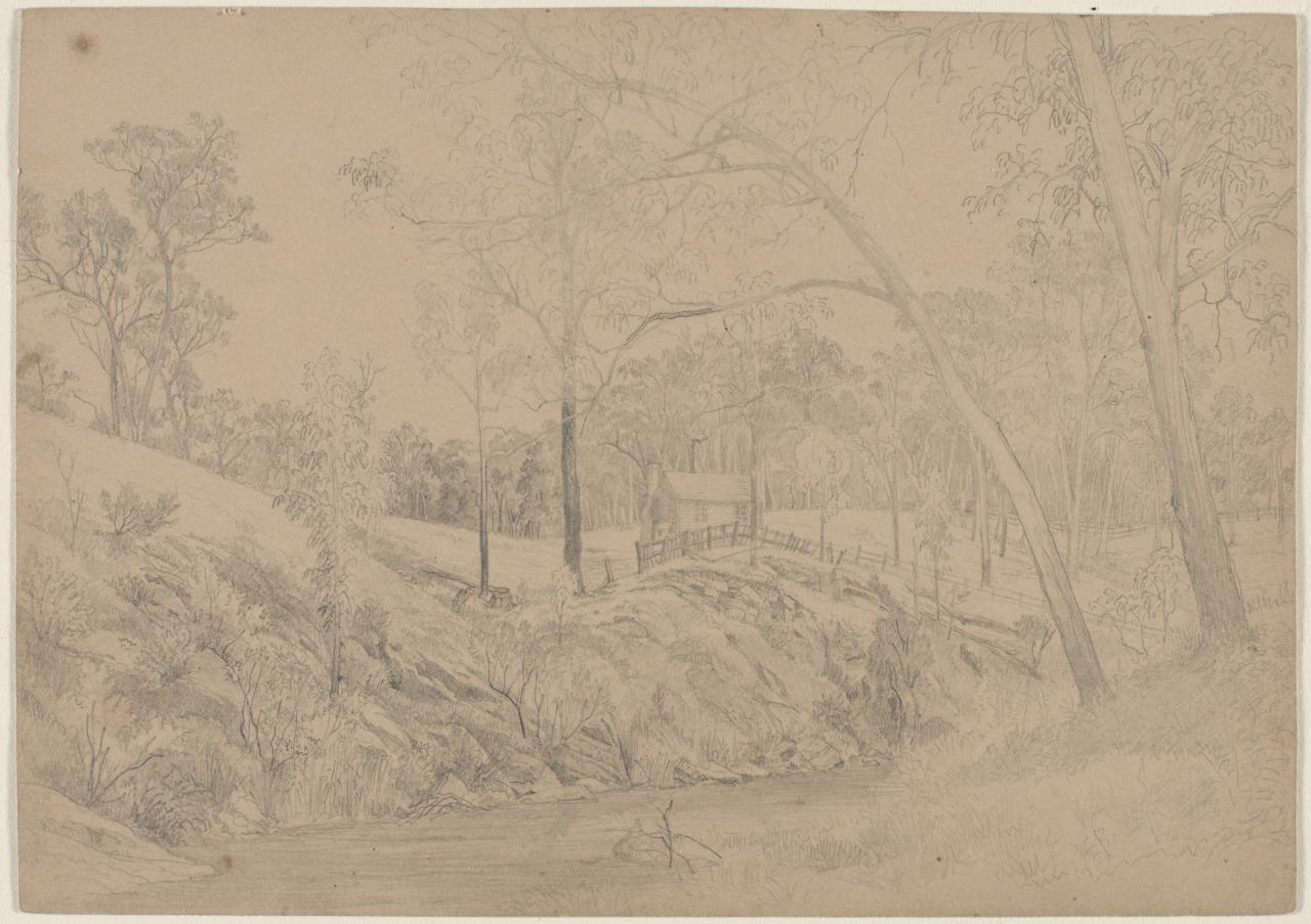 Study for View of the Station Plenty, Port Phillip district