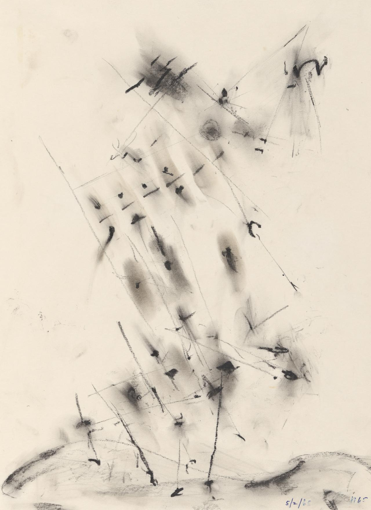 Study for the lithograph Structures in a landscape