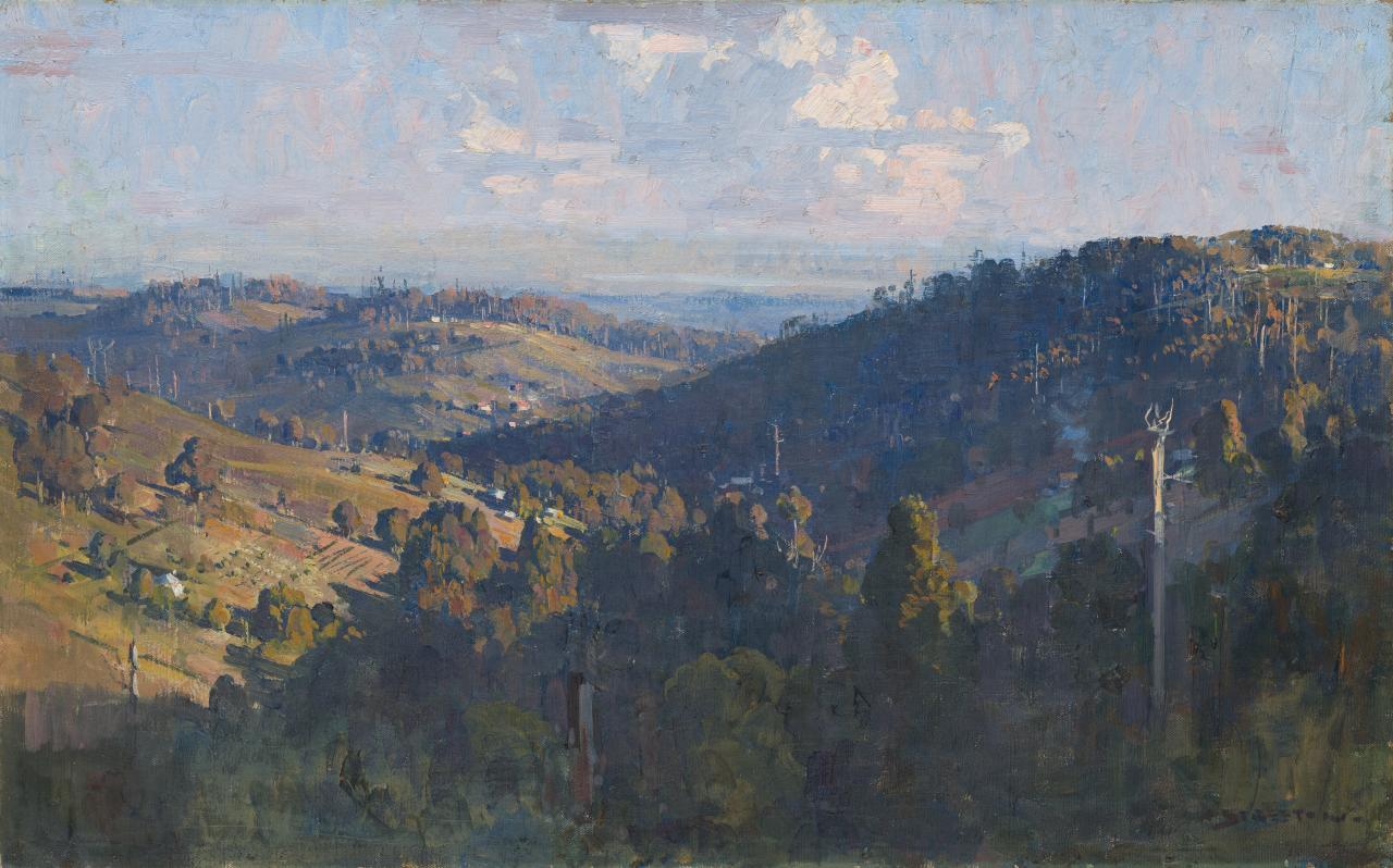 The valley from Olinda top 'Let the Rose glow intense and warm the air' - Keats