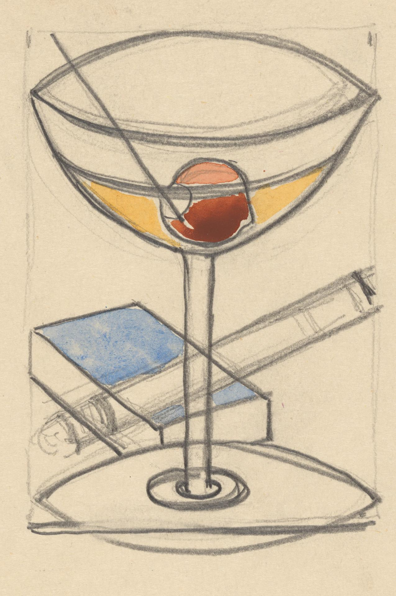 Cocktail glass: design for print
