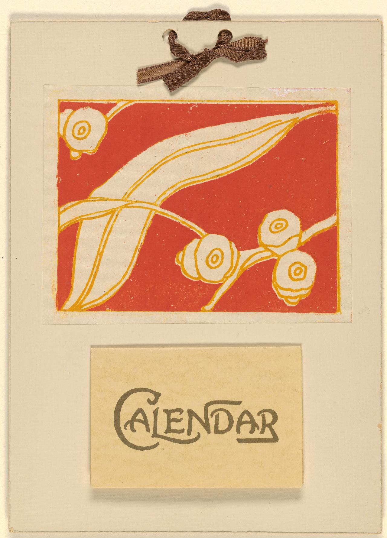 Eucalyptus leaves and gumnuts (Calendar 1942)