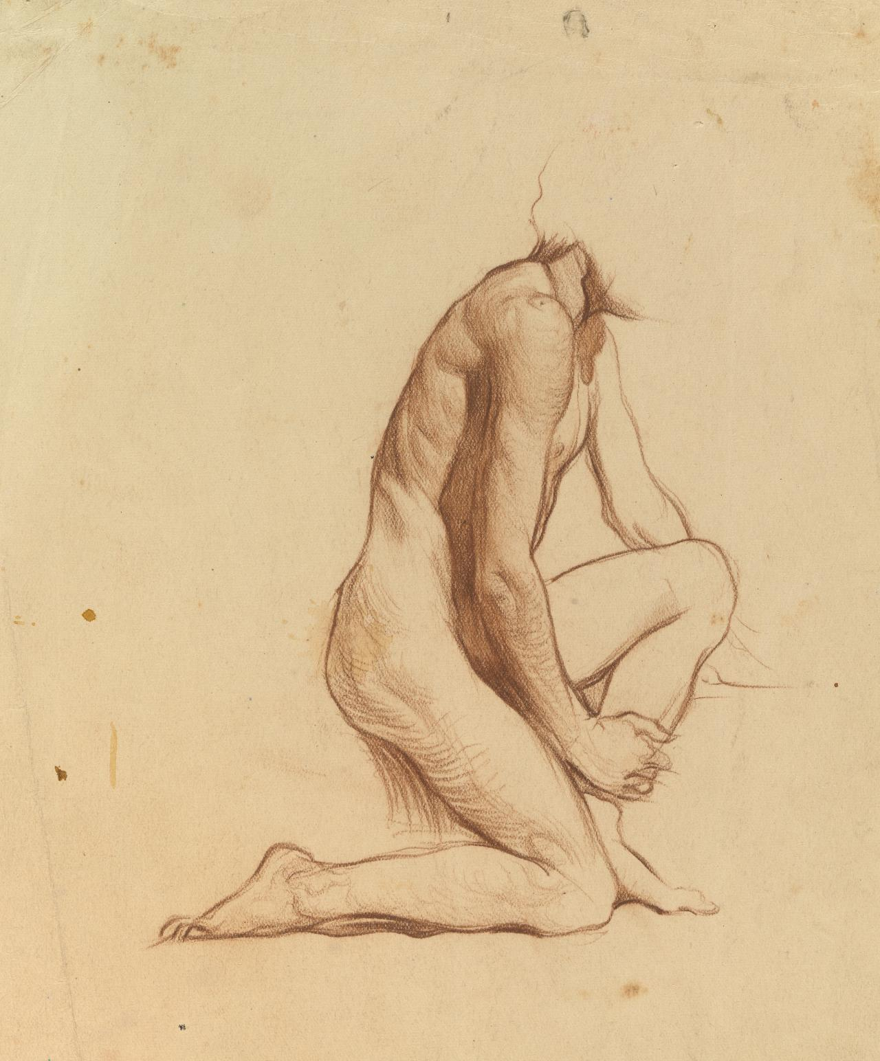 Male nude study - side view