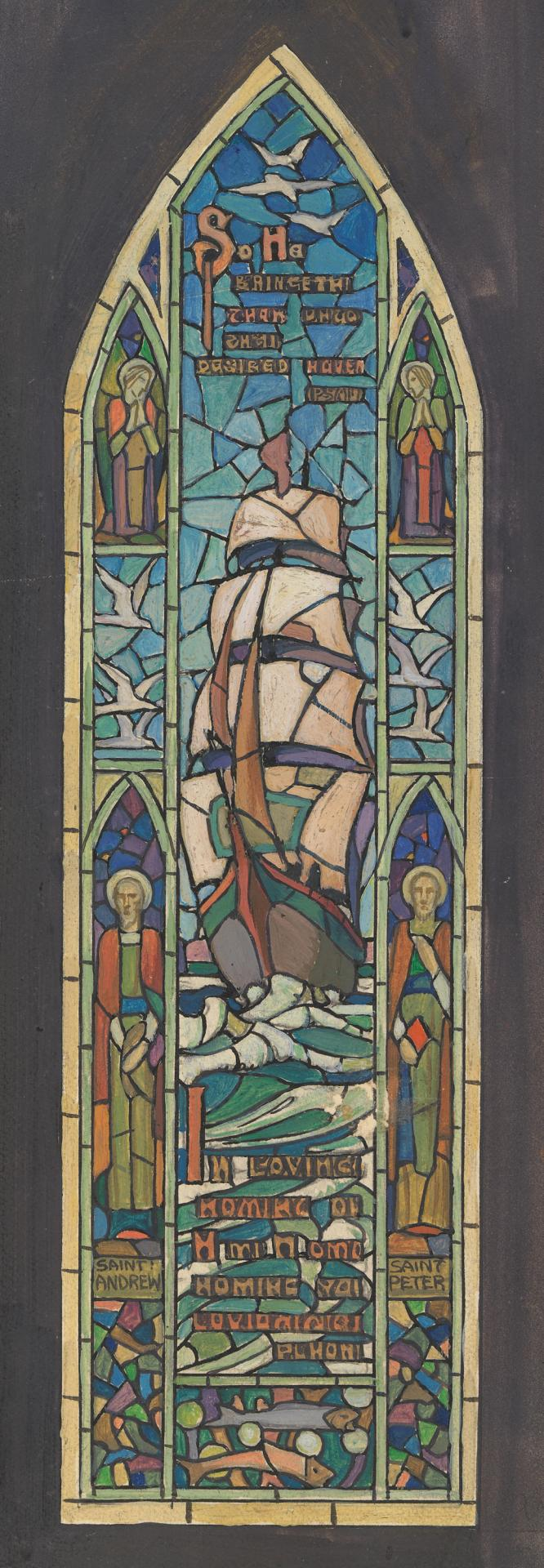 Design for window for Presbyterian Church, Shelford, near Geelong