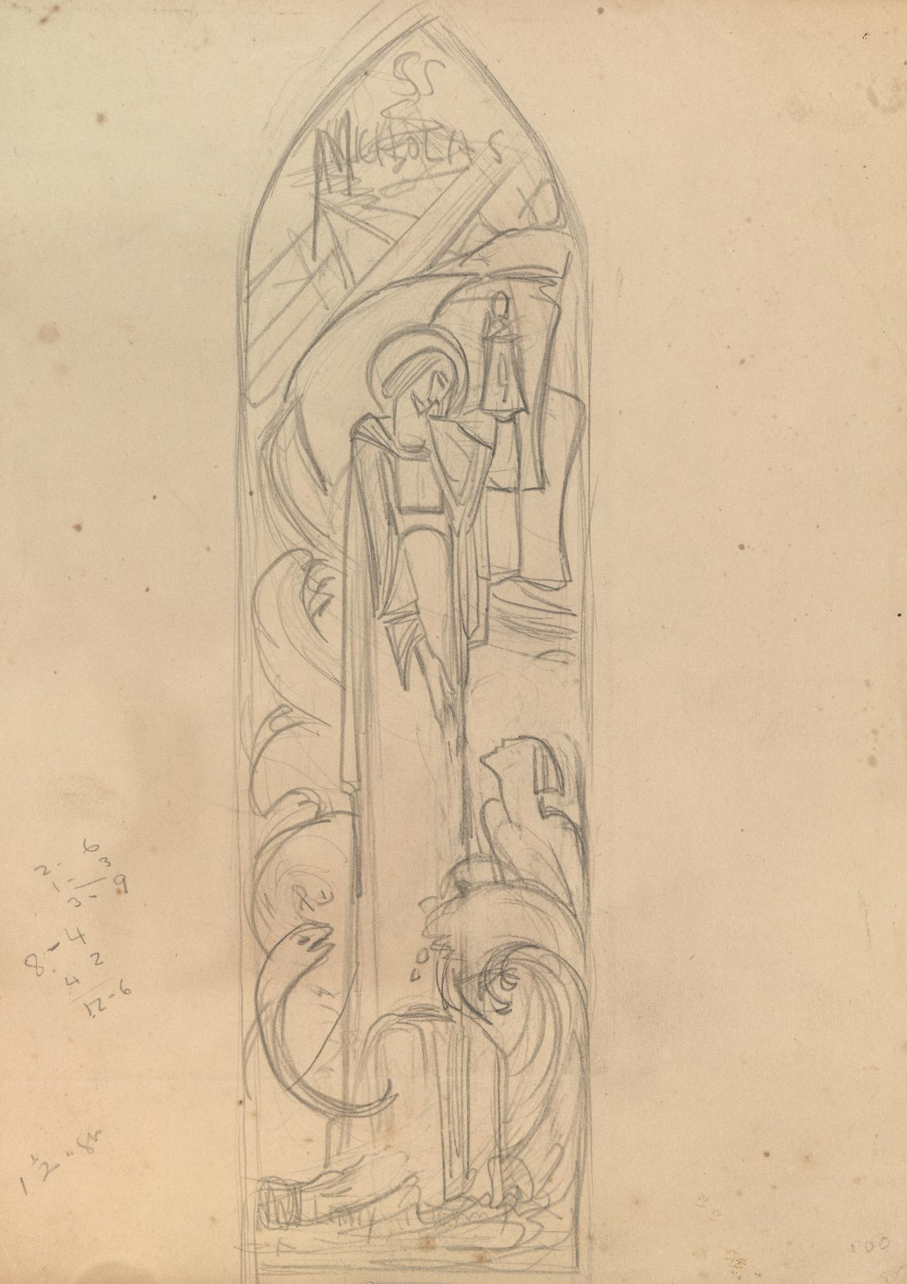 Study for window design; St Nicholas
