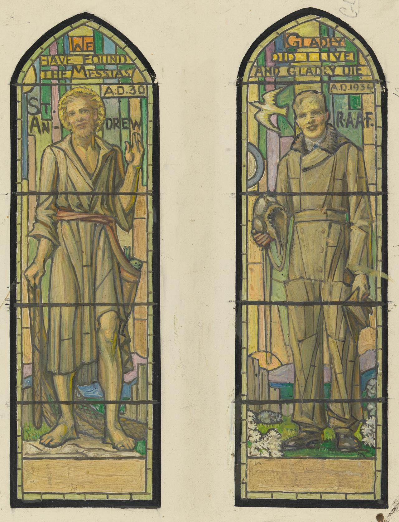 Designs for windows, St Mark's Church, Camberwell