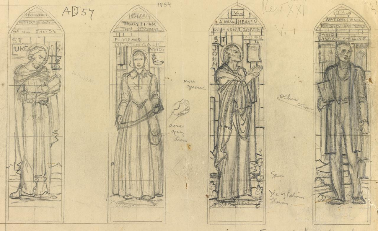 Study for design for four windows for St Mark's, Camberwell