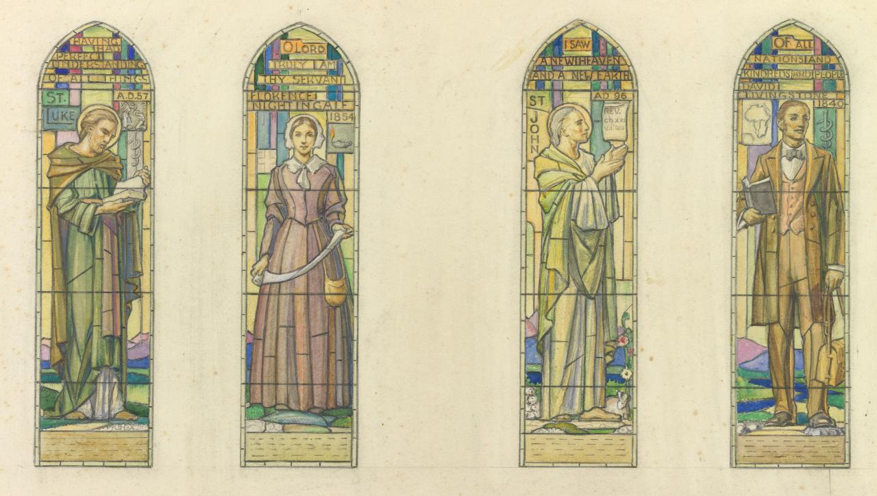 Design for four windows for St Mark's, Camberwell