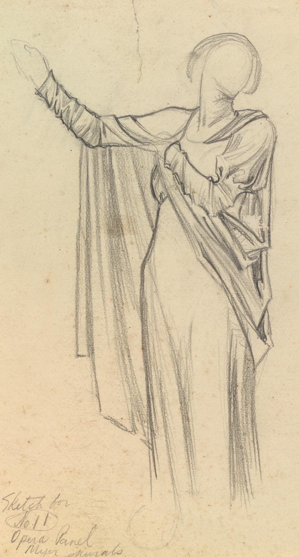 Sketch for No.11 opera panel, Myer murals