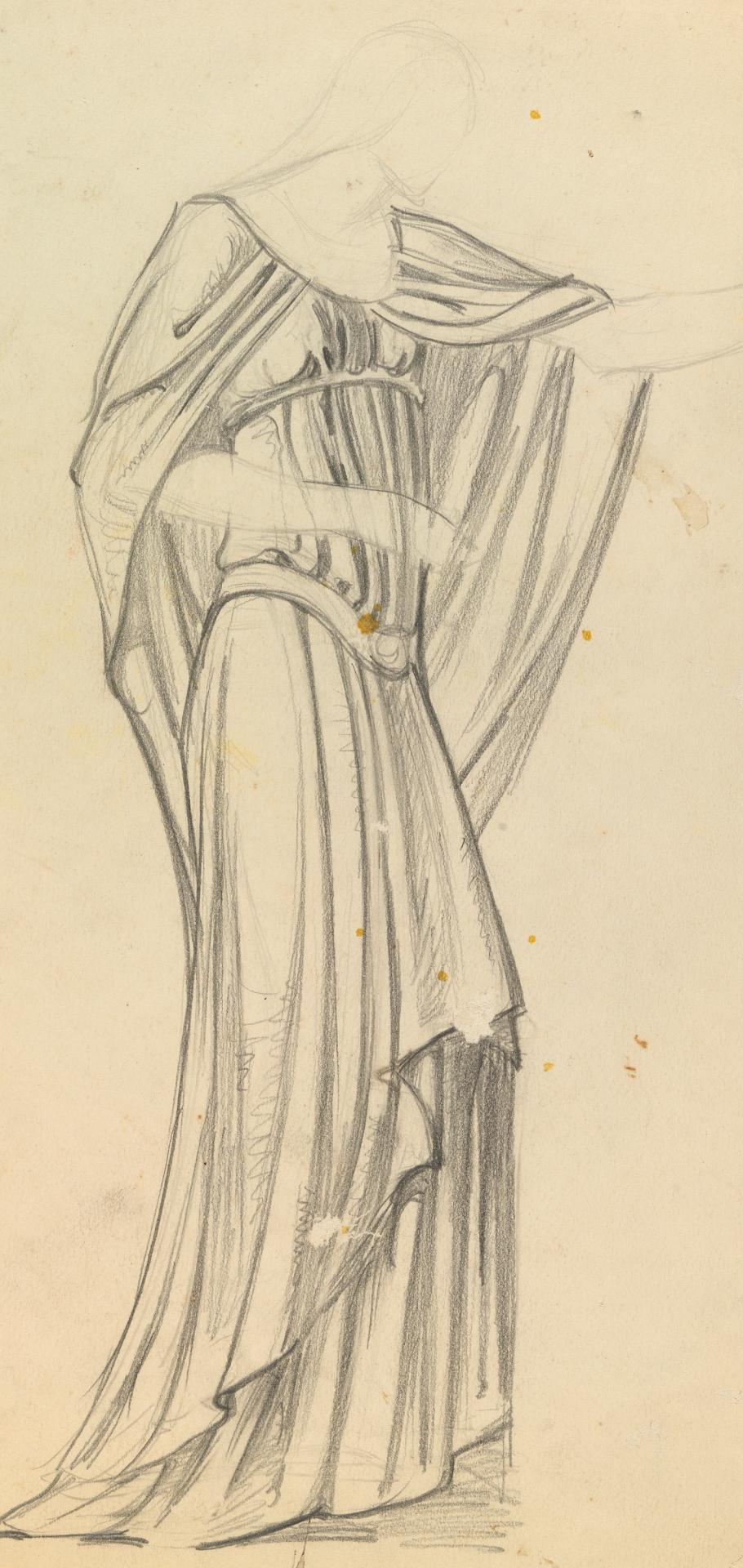 Opera costume sketch for Myer murals, Patti as Aida