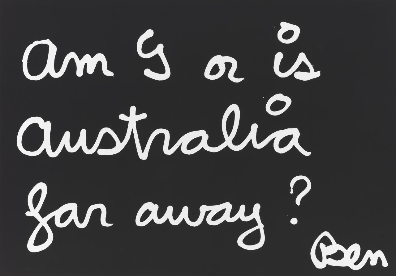 Am I or is Australia far away?