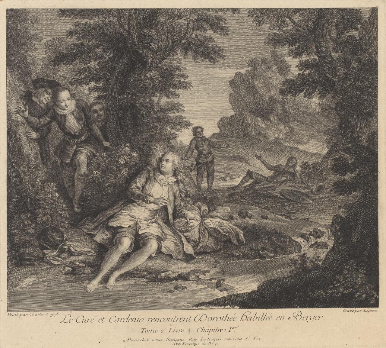 Le Cure et Cardenio renchontrent...(Don Quichiotte 1 of 24 plates)