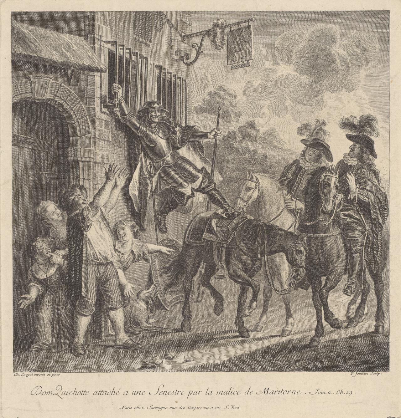 Don Quichotte attache a une fenestre..(Don Quichotte 1 of 24 plates