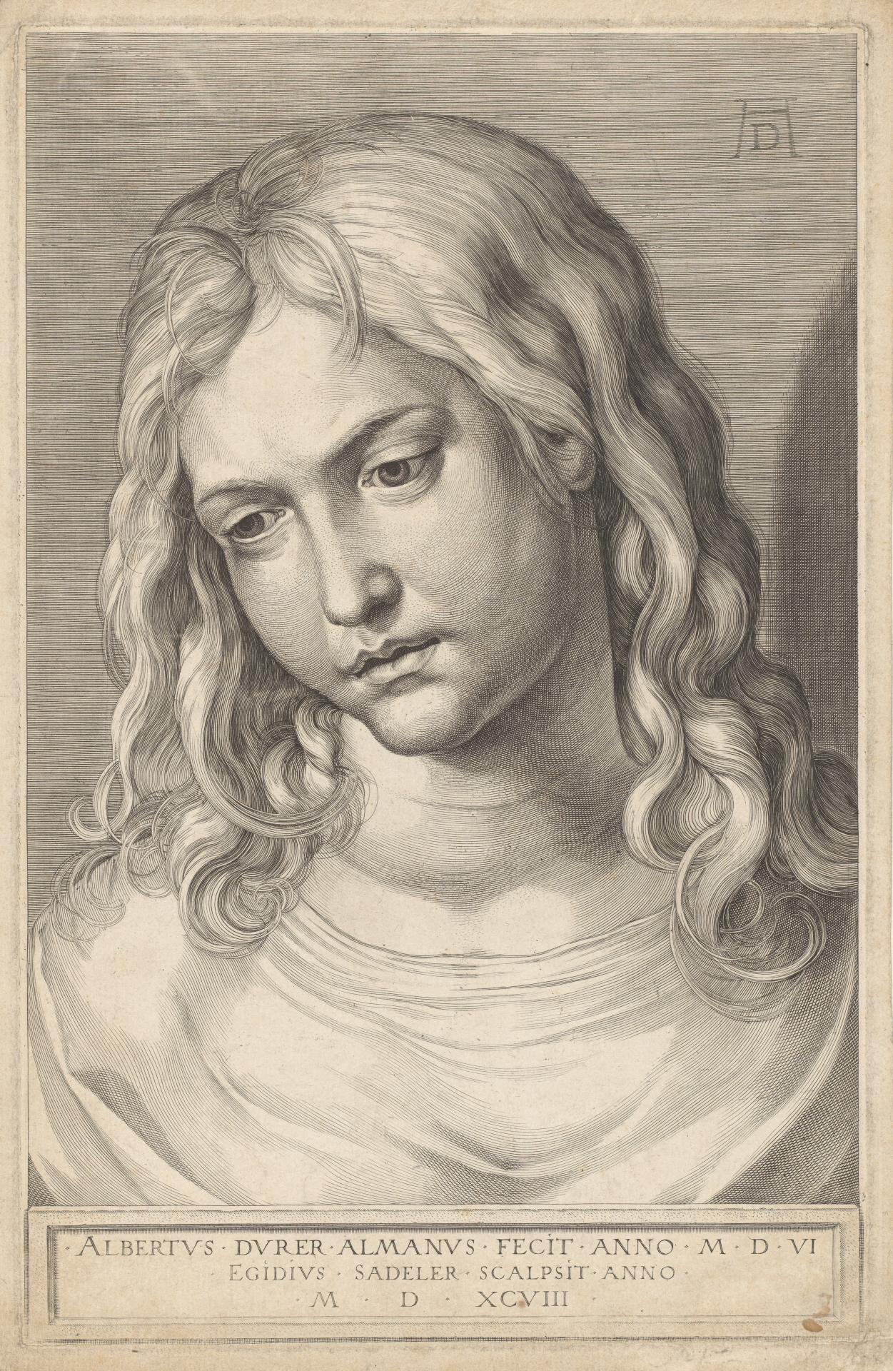 Head of the twelve-year-old Christ