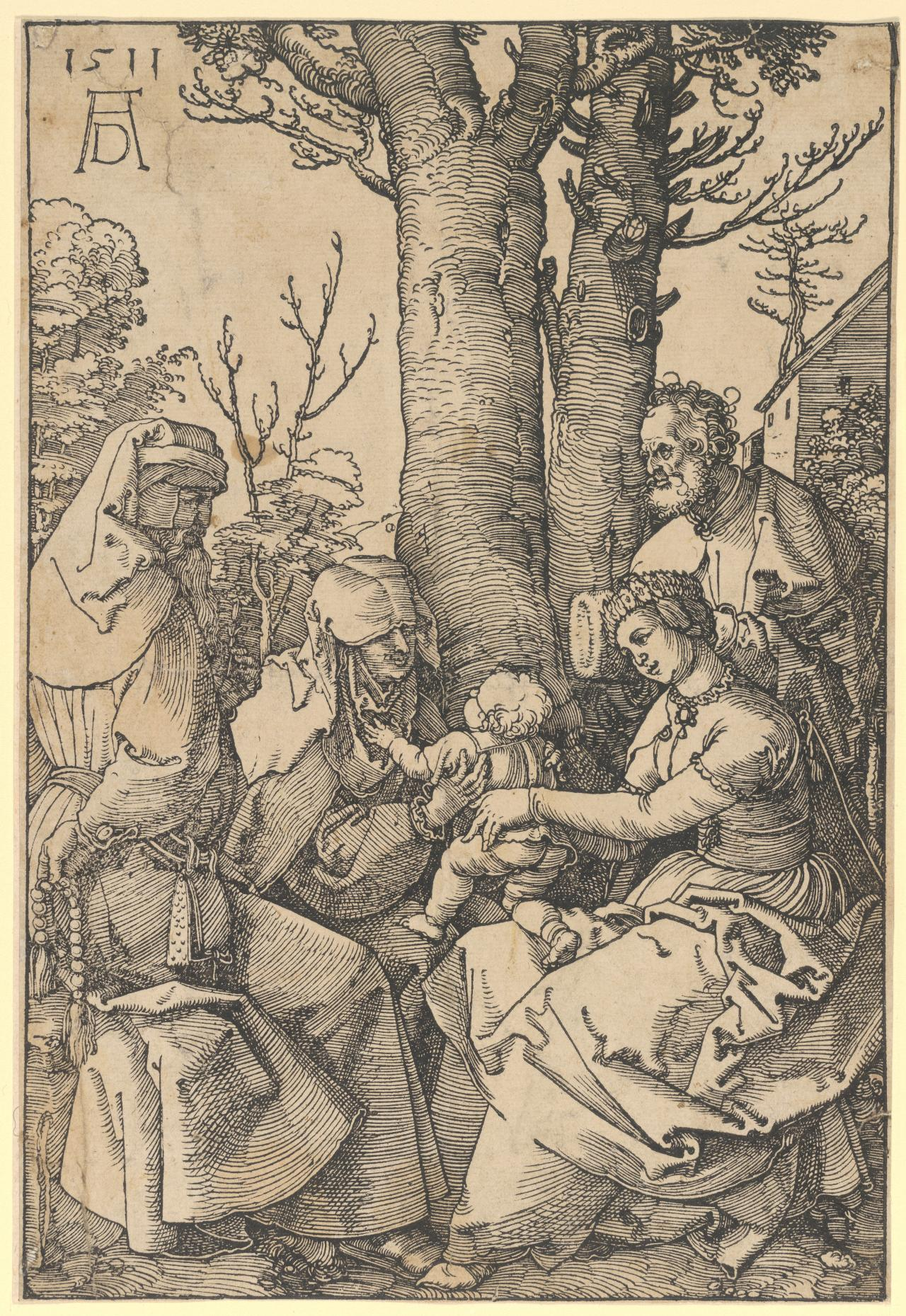 The Holy Family with Joachim and St. Anne
