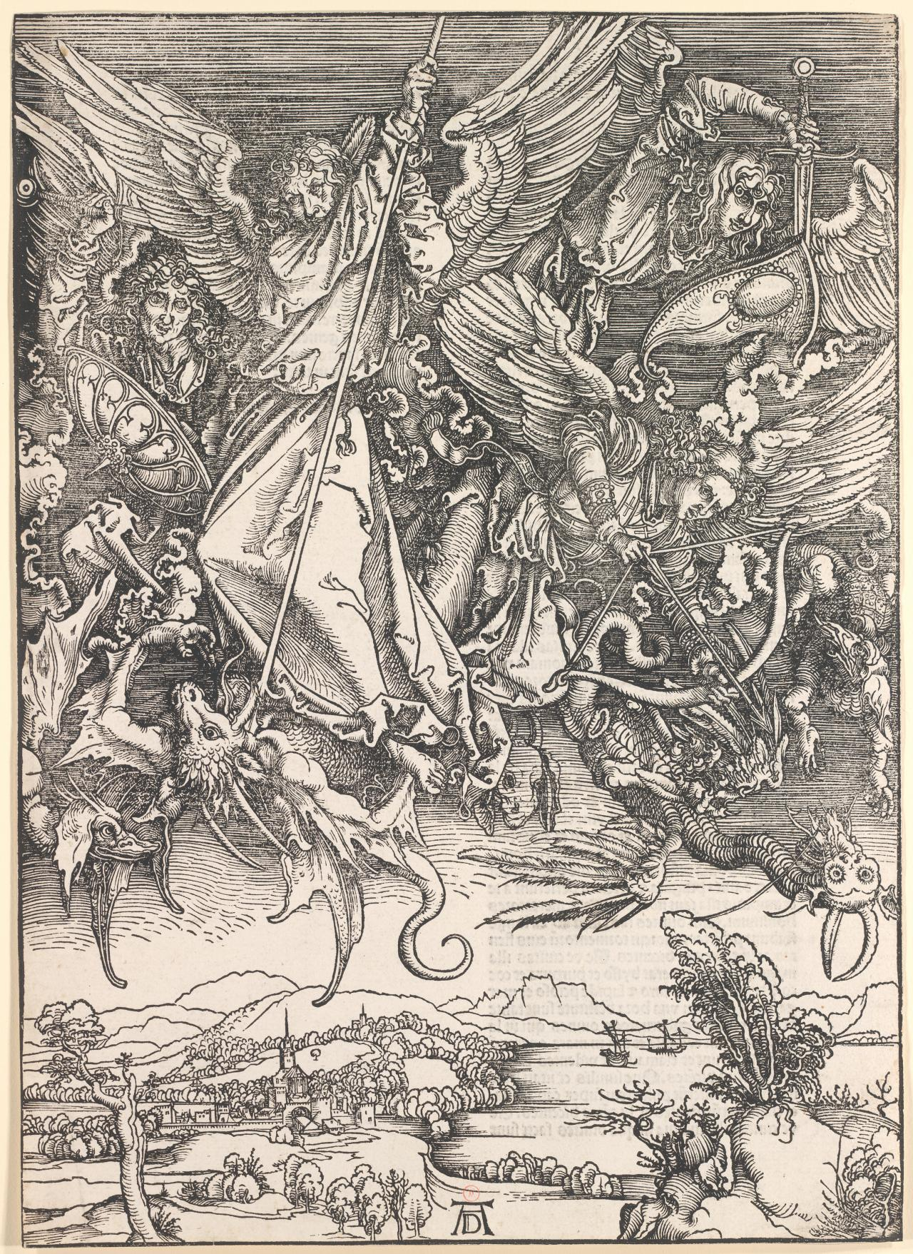 St Michael fighting the dragon