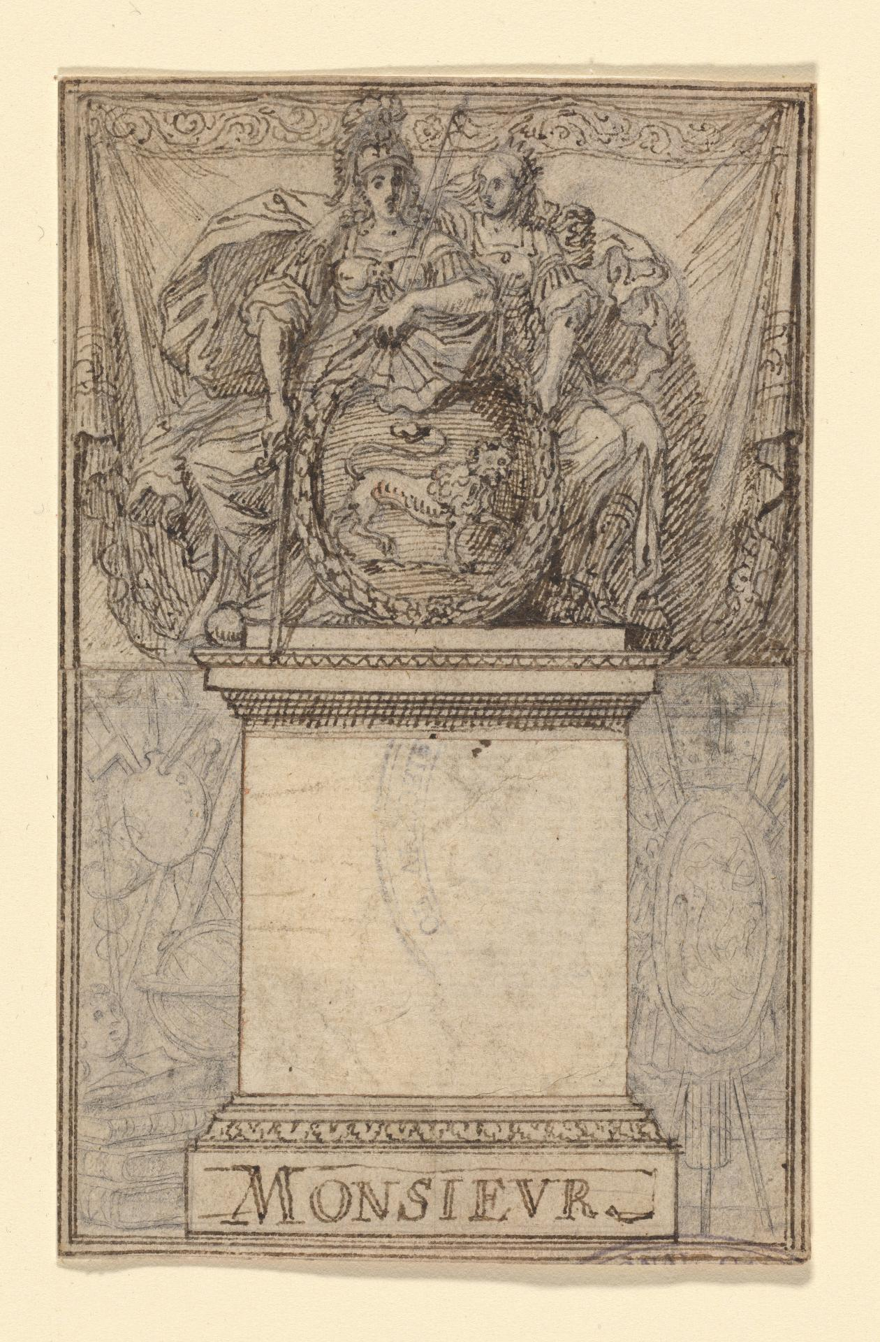 Study for an engraved bookplate