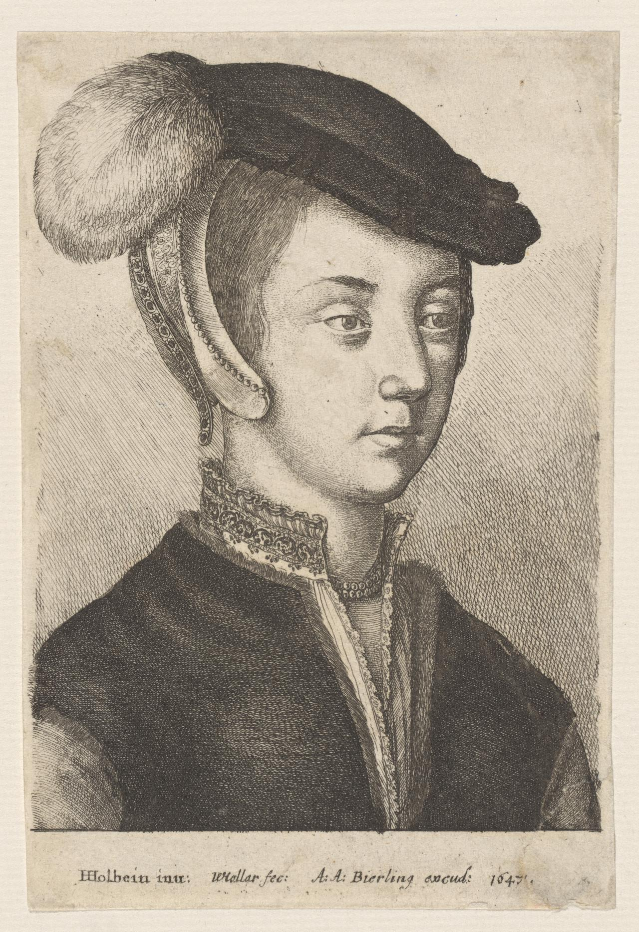 Young woman with a cap with feather - Portraits